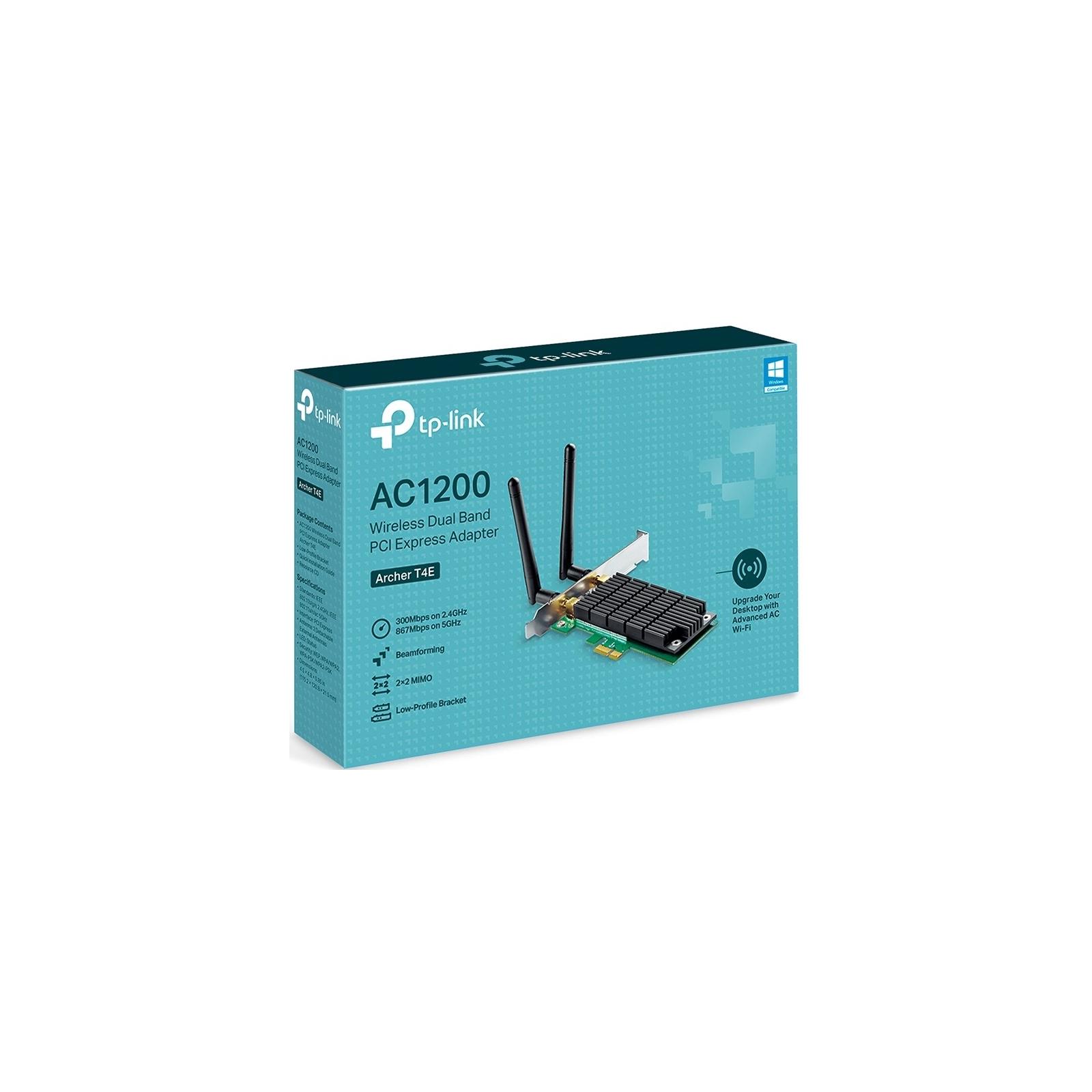 Ретранслятор TP-Link Archer T4E AC1200, PCI Express, Beamforming (ARCHER-T4E) зображення 6
