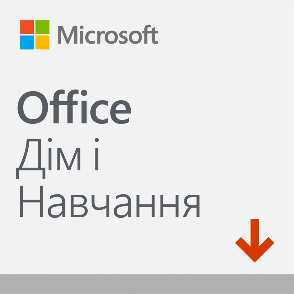 Офісний додаток Microsoft Office 2019 Home and Student Ukrainian Medialess P6 (79G-05215)