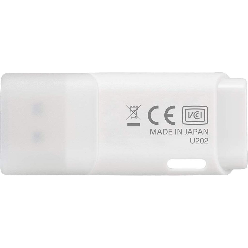 USB флеш накопитель Kioxia 64GB U202 White USB 2.0 (LU202W064GG4) изображение 2