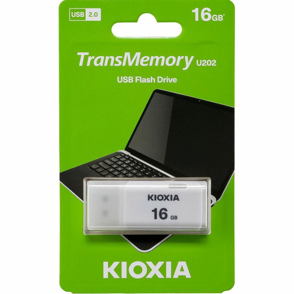 USB флеш накопитель Kioxia 64GB U202 White USB 2.0 (LU202W064GG4) изображение 3