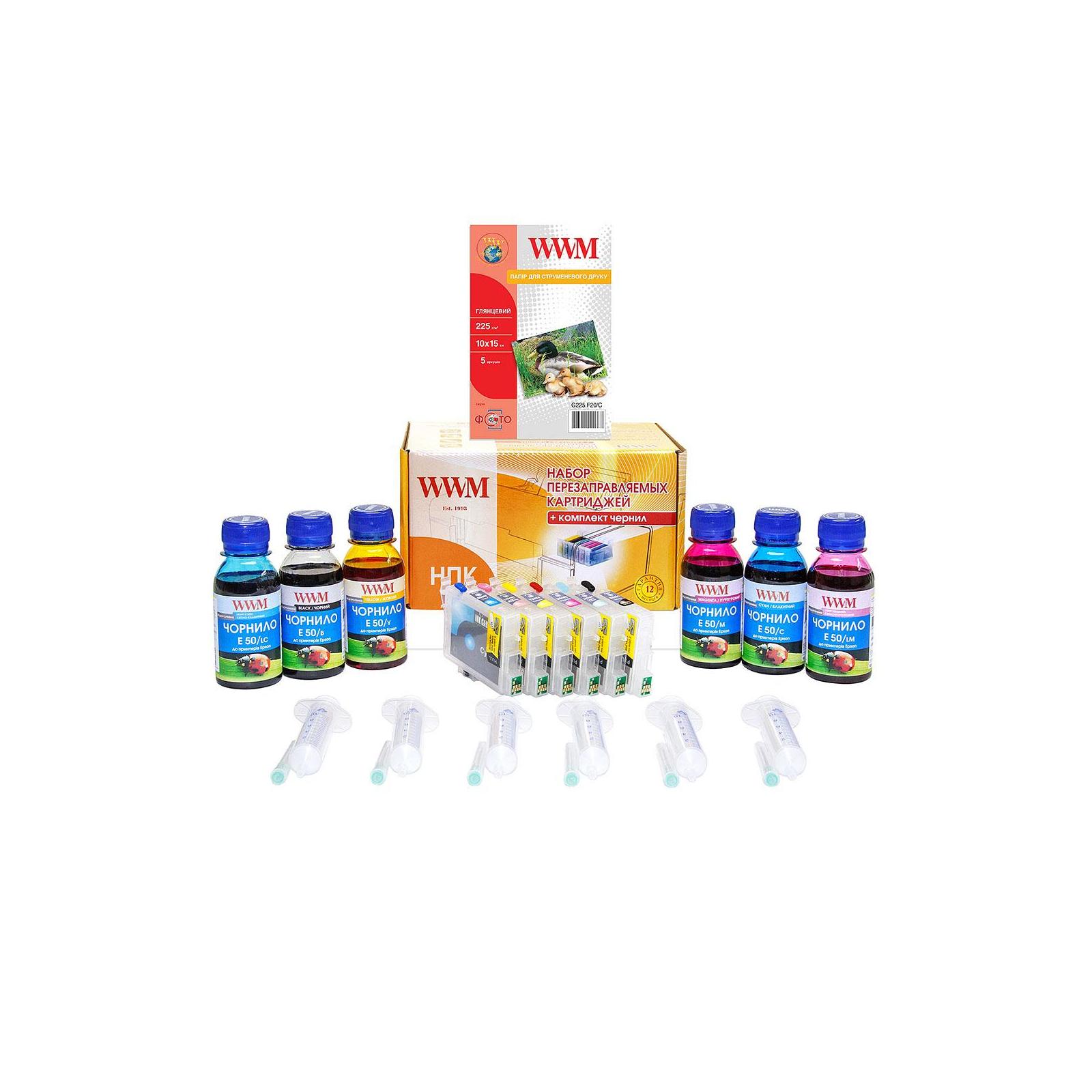 Комплект перезаправляемых картриджей WWM Epson R200/340/RX500/640 (RC.T048)