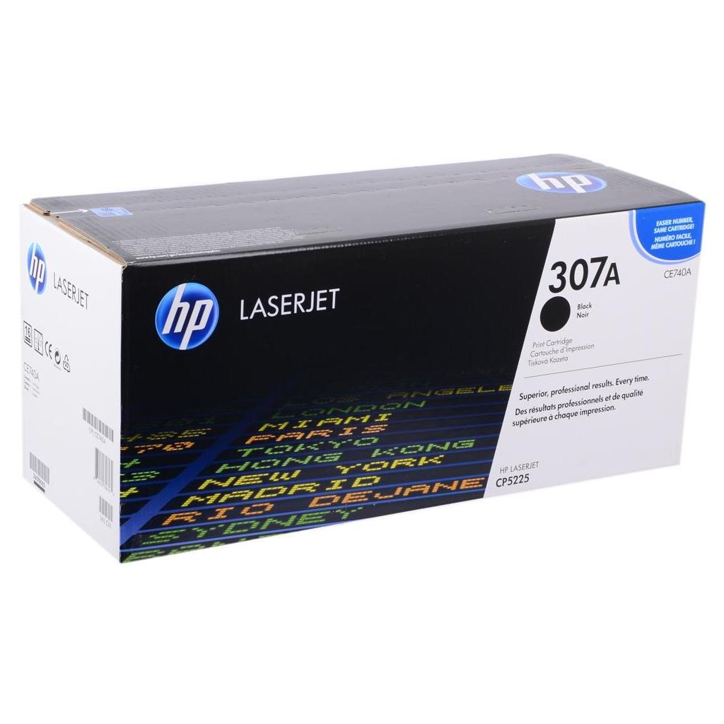 Картридж HP CLJ  307A Black (CE740A) изображение 2