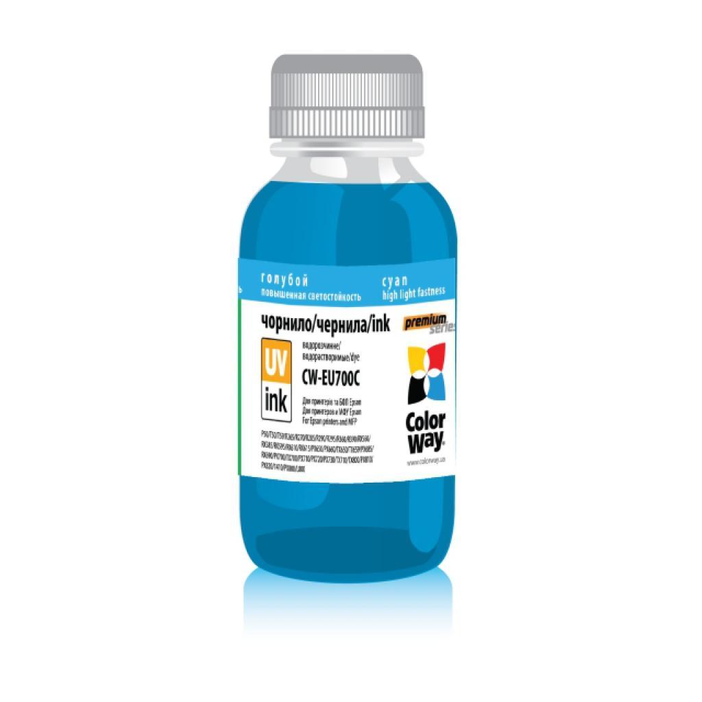 Чернила ColorWay Epson UV P50/PX700 200мл Cyan (CW-EU700C02)