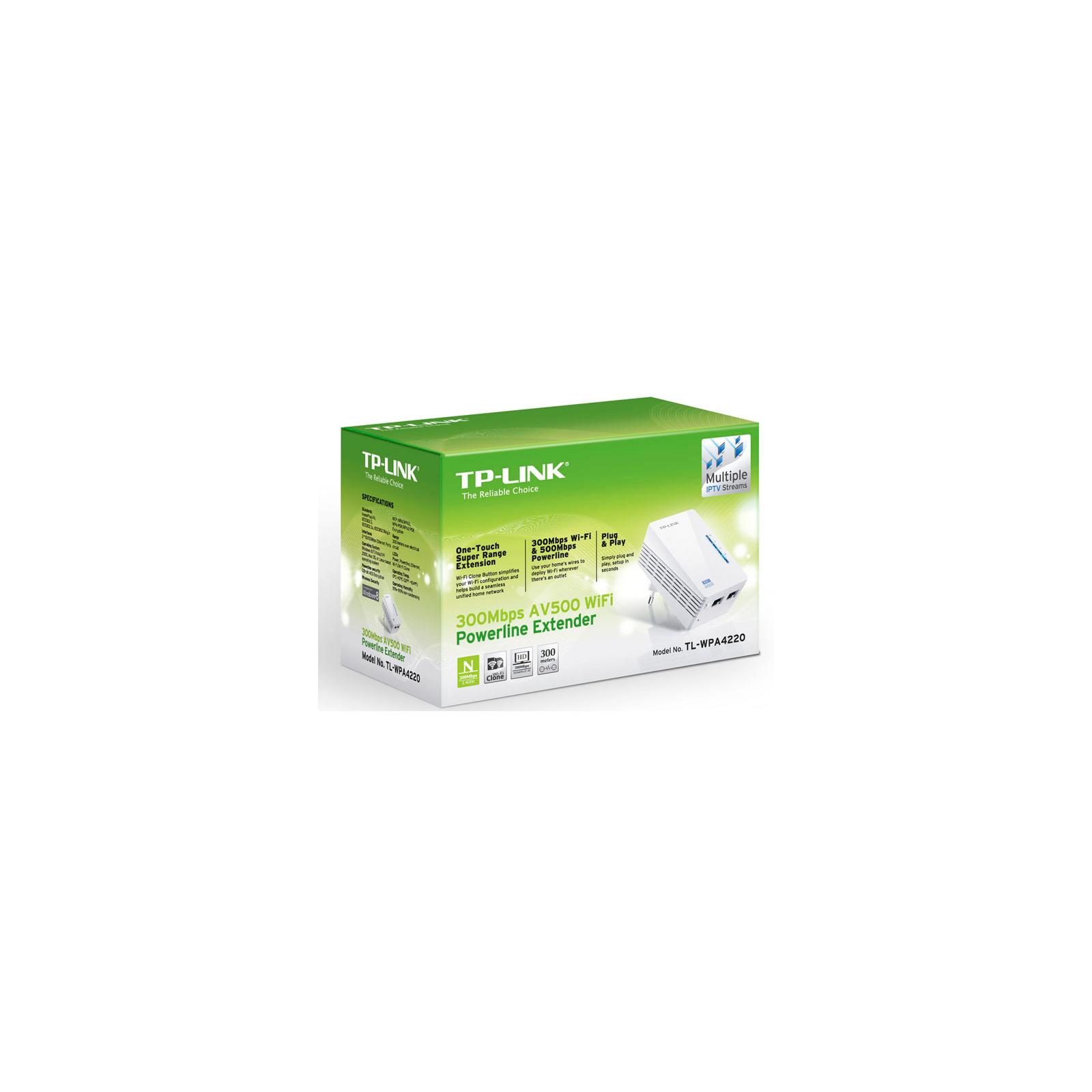 Адаптер Powerline TP-Link TL-WPA4220 изображение 6