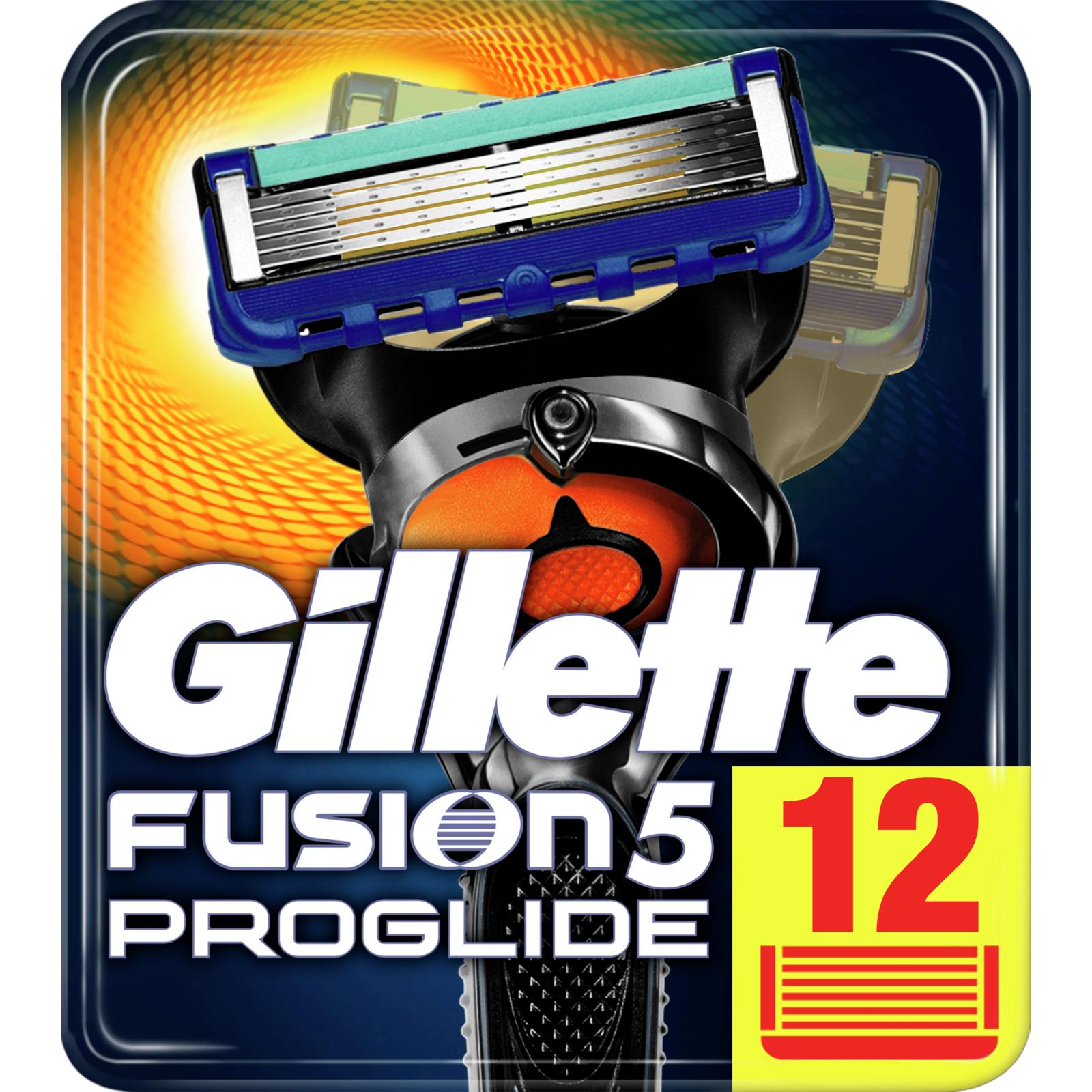 Сменные кассеты Gillette Fusion ProGlide 12 шт (7702018085934)