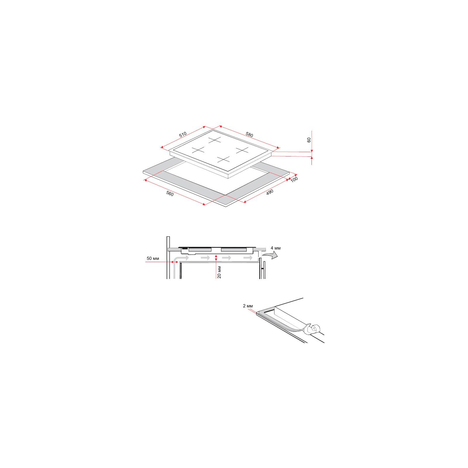 Варочная поверхность PERFELLI HGM 610 W изображение 9