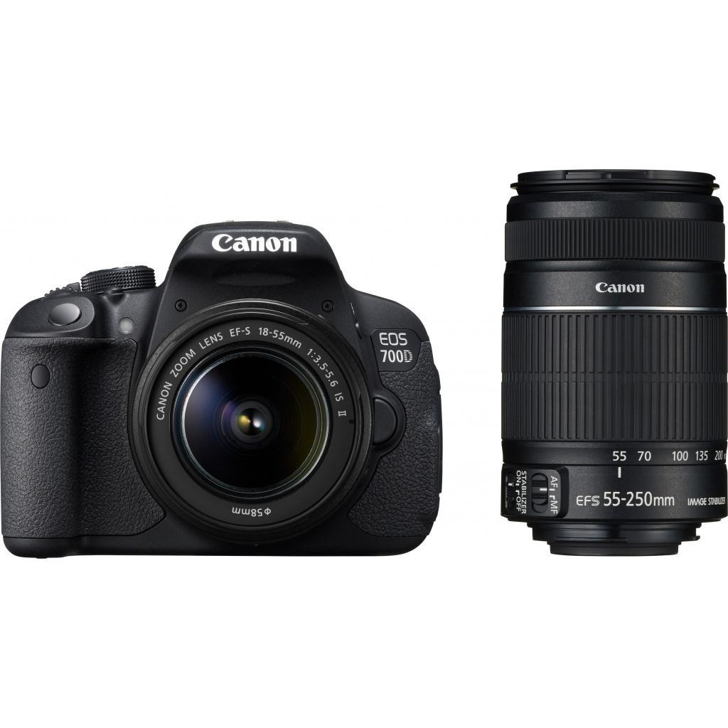 Цифровой фотоаппарат Canon EOS 700D + объектив 18-55 STM + объектив 55-250mm STM (8596B087) изображение 12