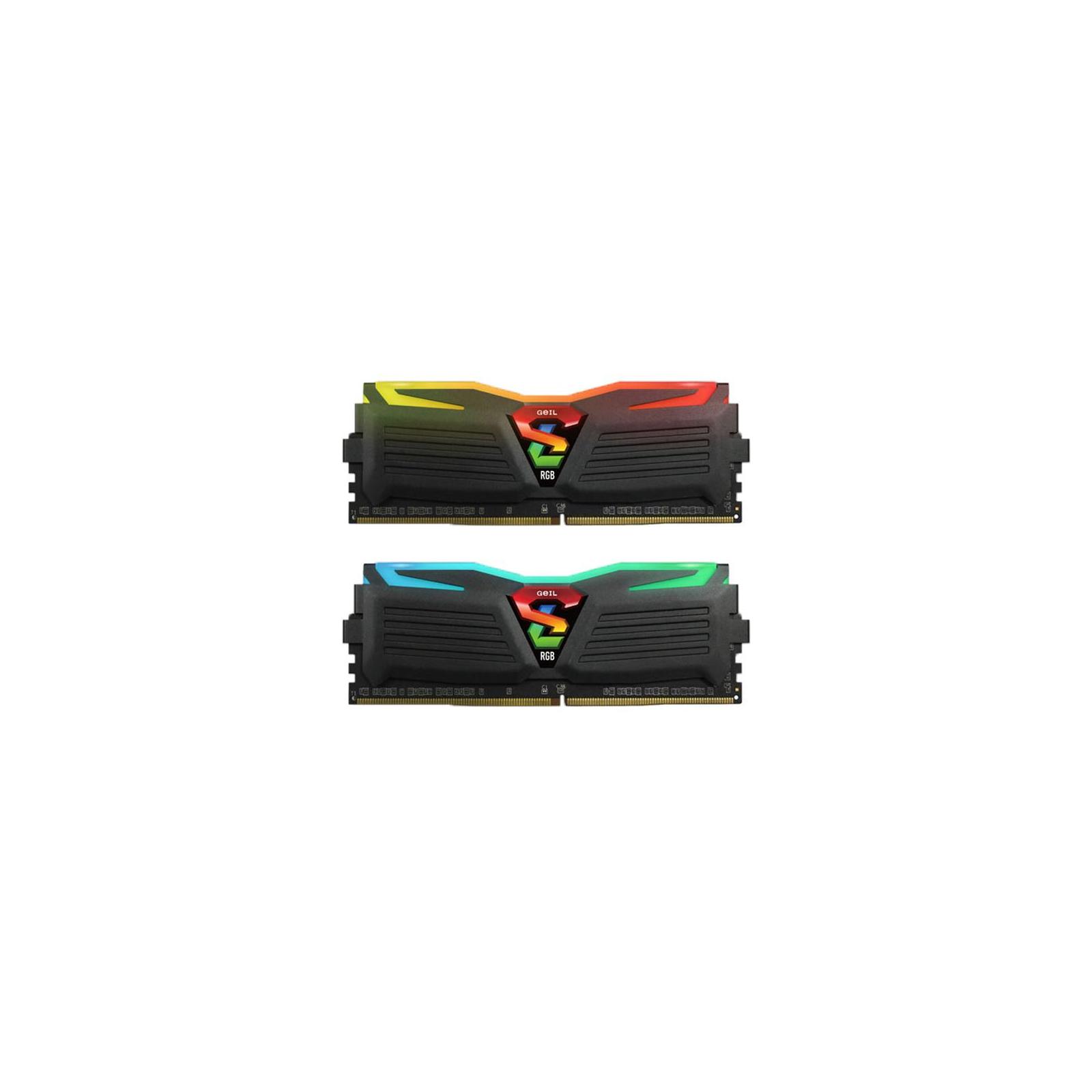 Модуль памяти для компьютера DDR4 16GB (2x8GB) 3000 MHz Super Luce Black RGB LED Geil (GLC416GB3000C16ADC)