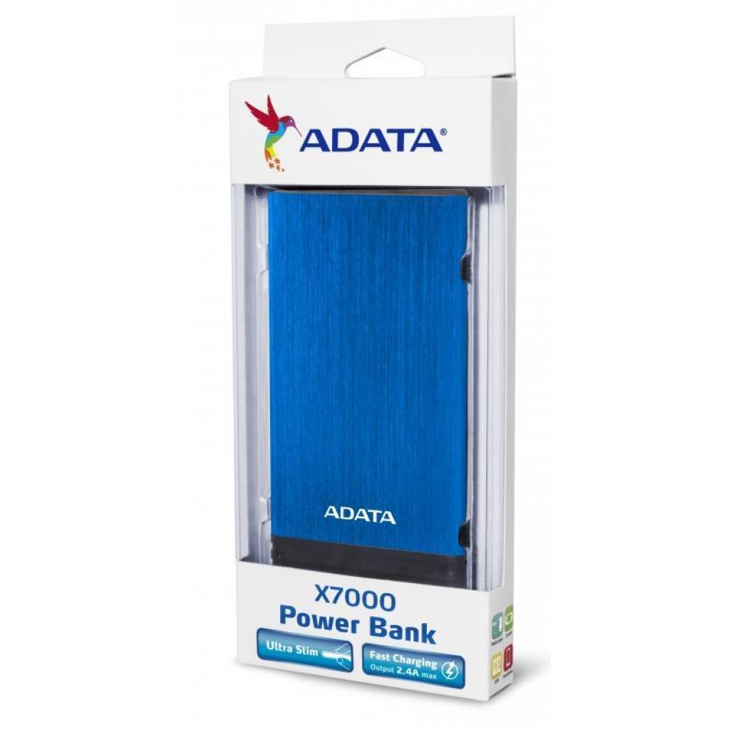 Батарея универсальная ADATA X7000 7000mAh Blue (AX7000-5V-CBL) изображение 6