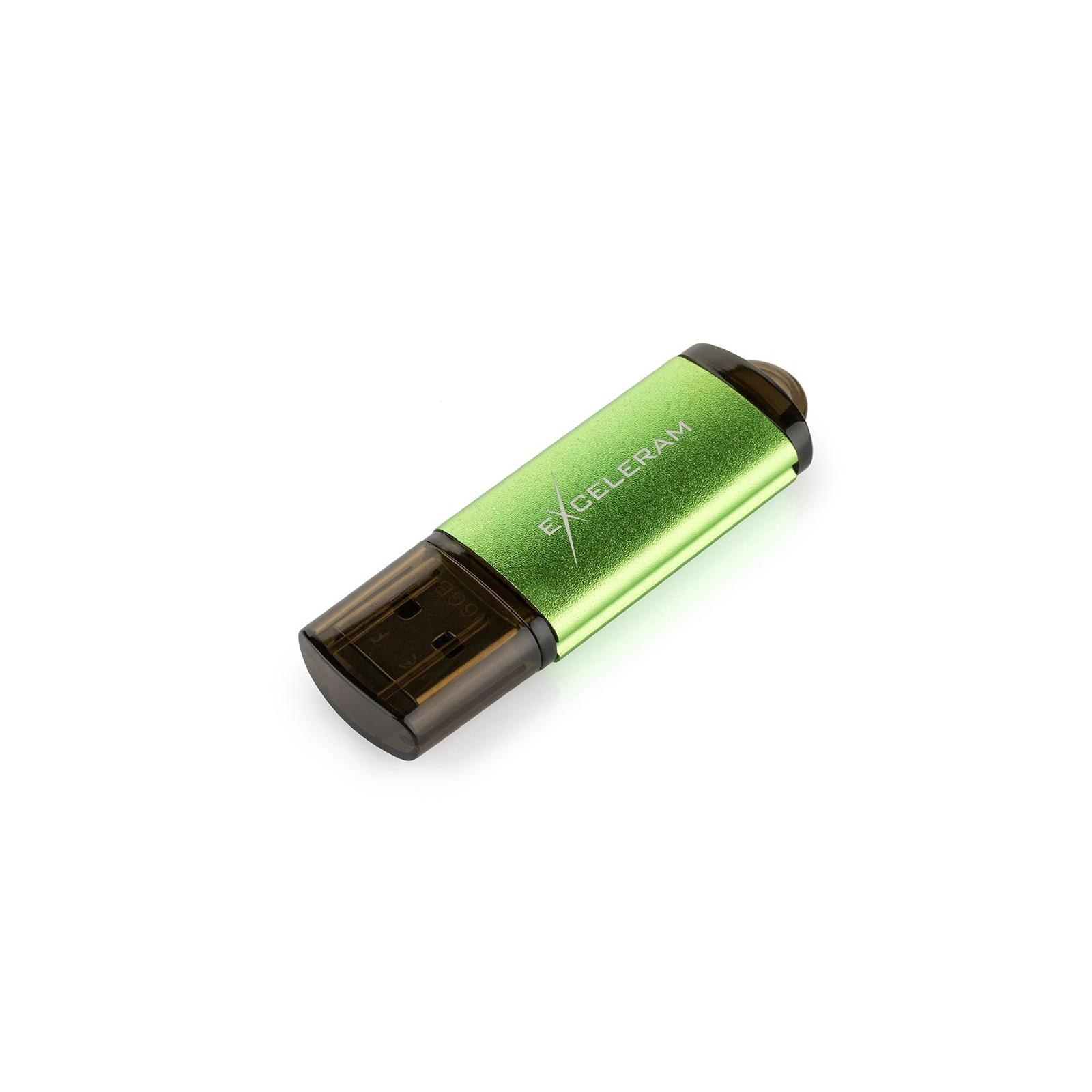 USB флеш накопитель eXceleram 128GB A3 Series Green USB 3.1 Gen 1 (EXA3U3GR128) изображение 3