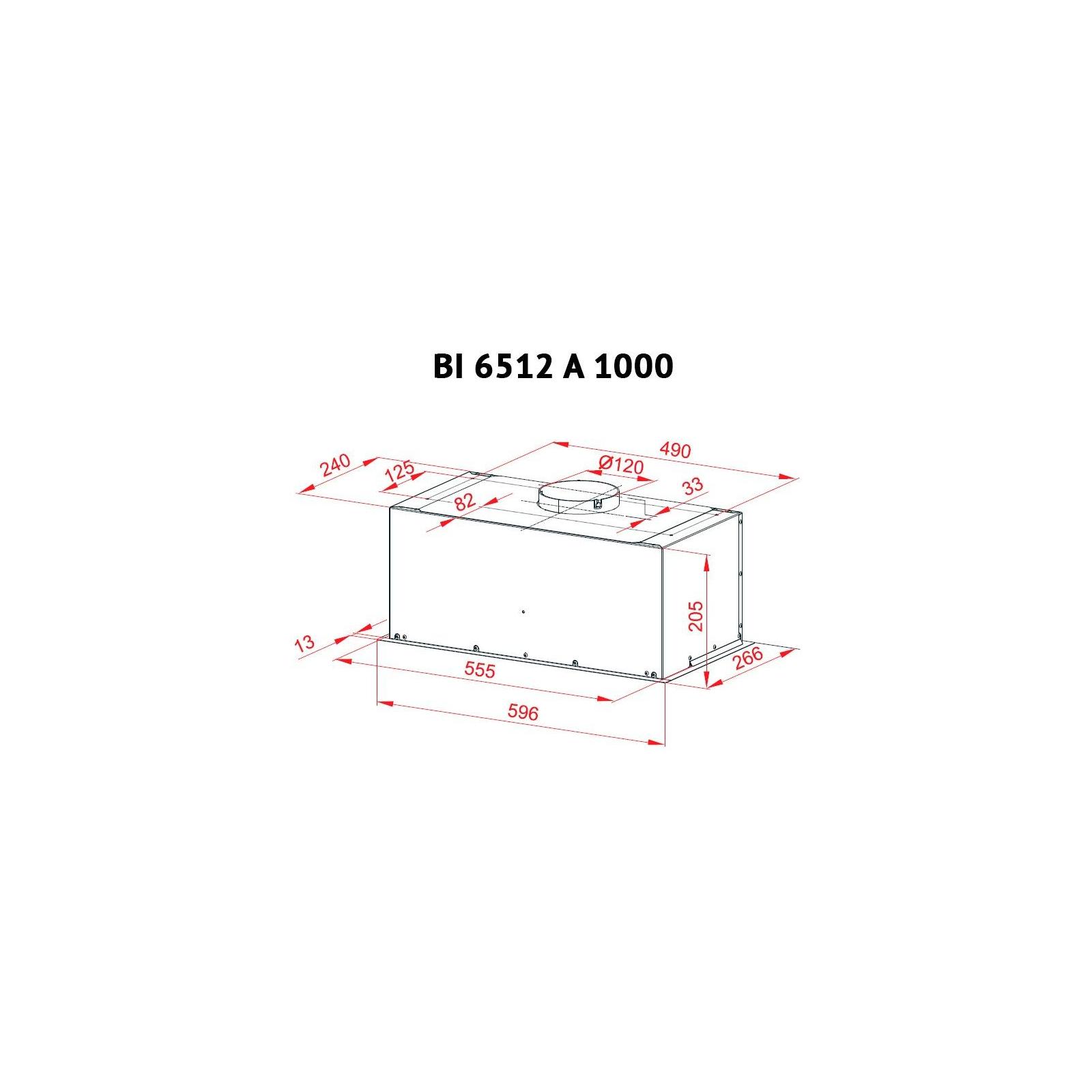 Вытяжка кухонная PERFELLI BI 6512 A 1000 W LED изображение 6