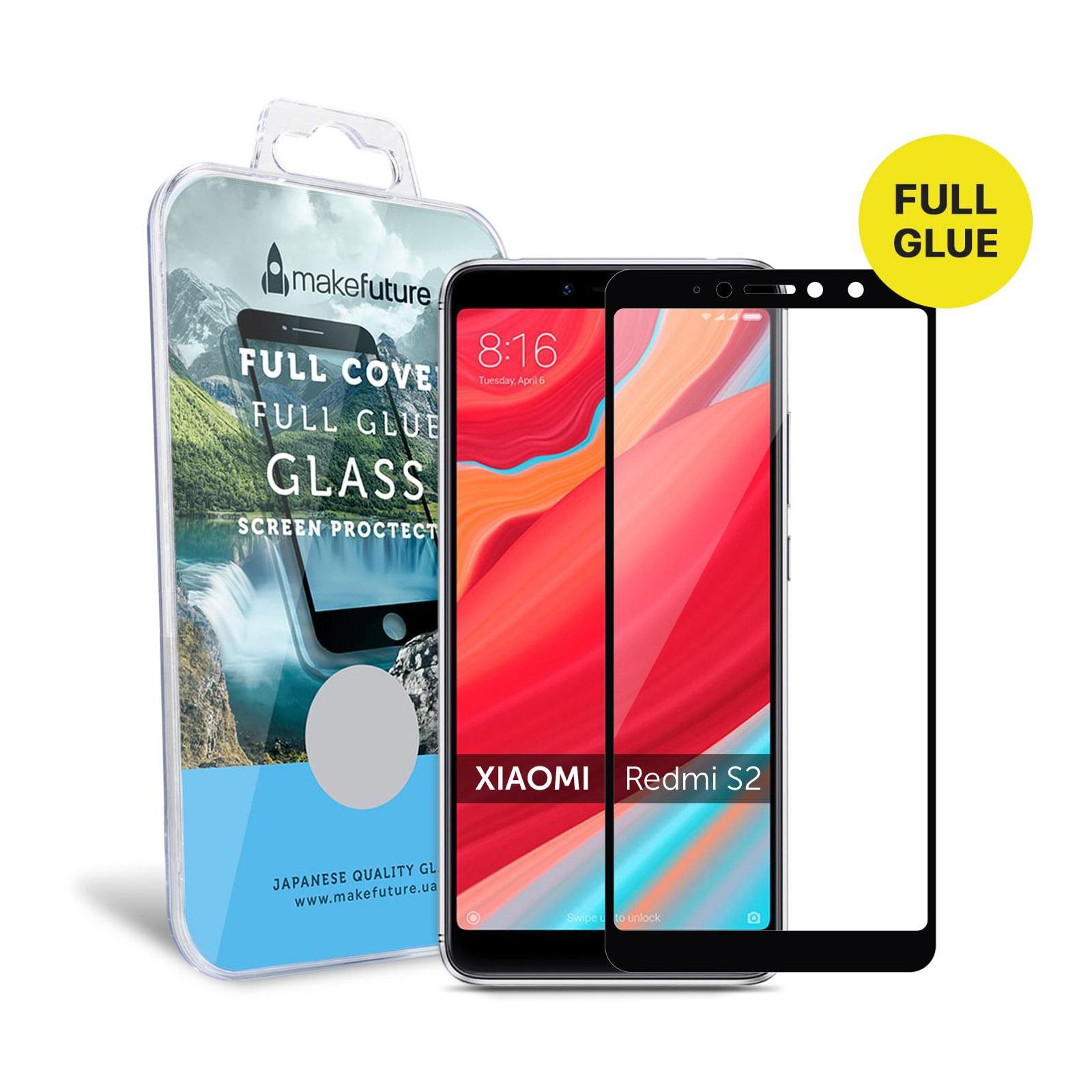 Стекло защитное MakeFuture для Xiaomi Redmi S2 Black Full Cover Full Glue (MGFC-XRS2B) изображение 4
