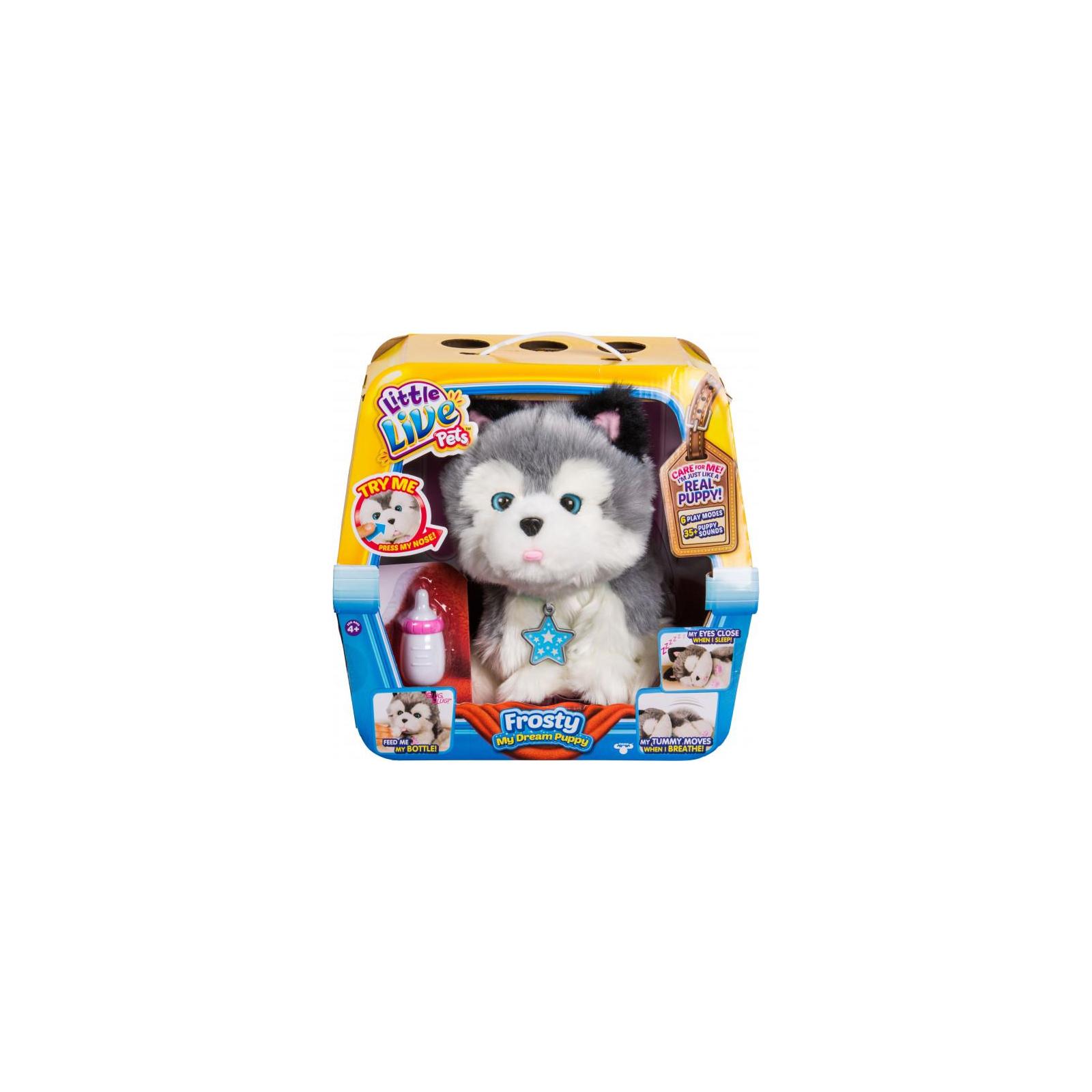 Интерактивная игрушка Moose Little Live Pets Ласковый щенок хаски Фрости (28278) изображение 5