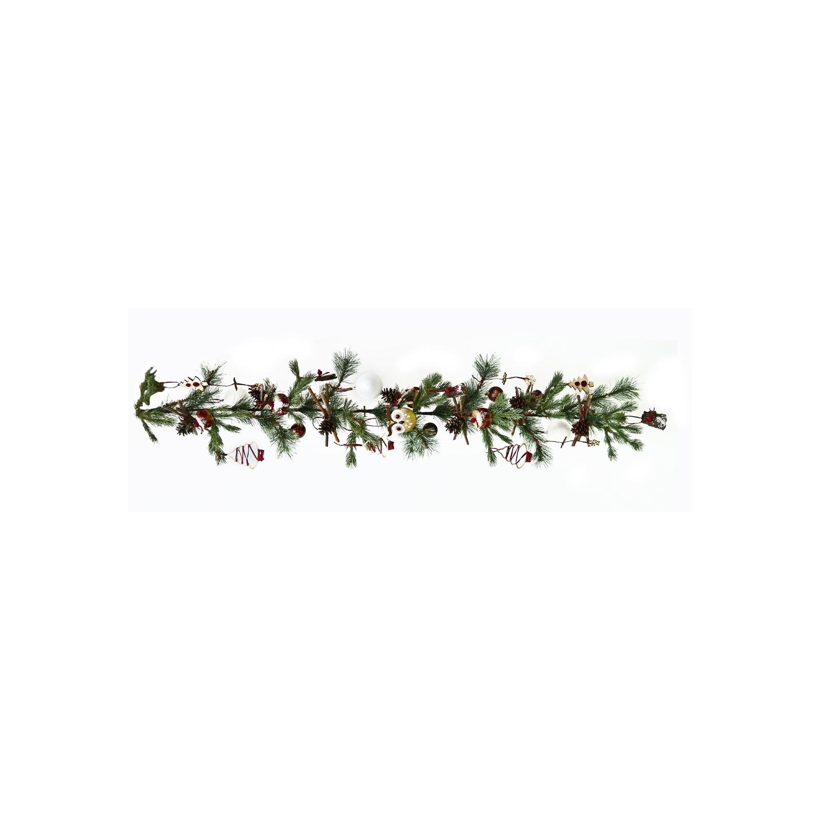 Украшение декоративное YES! Fun Елочная ветка 1.50 м с украшением Новогодние чудеса (960372)