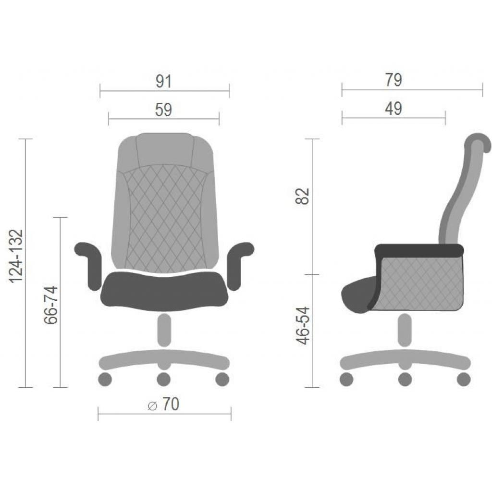 Офисное кресло Аклас Франсуа EX D-Tilt Черное (12032) изображение 6