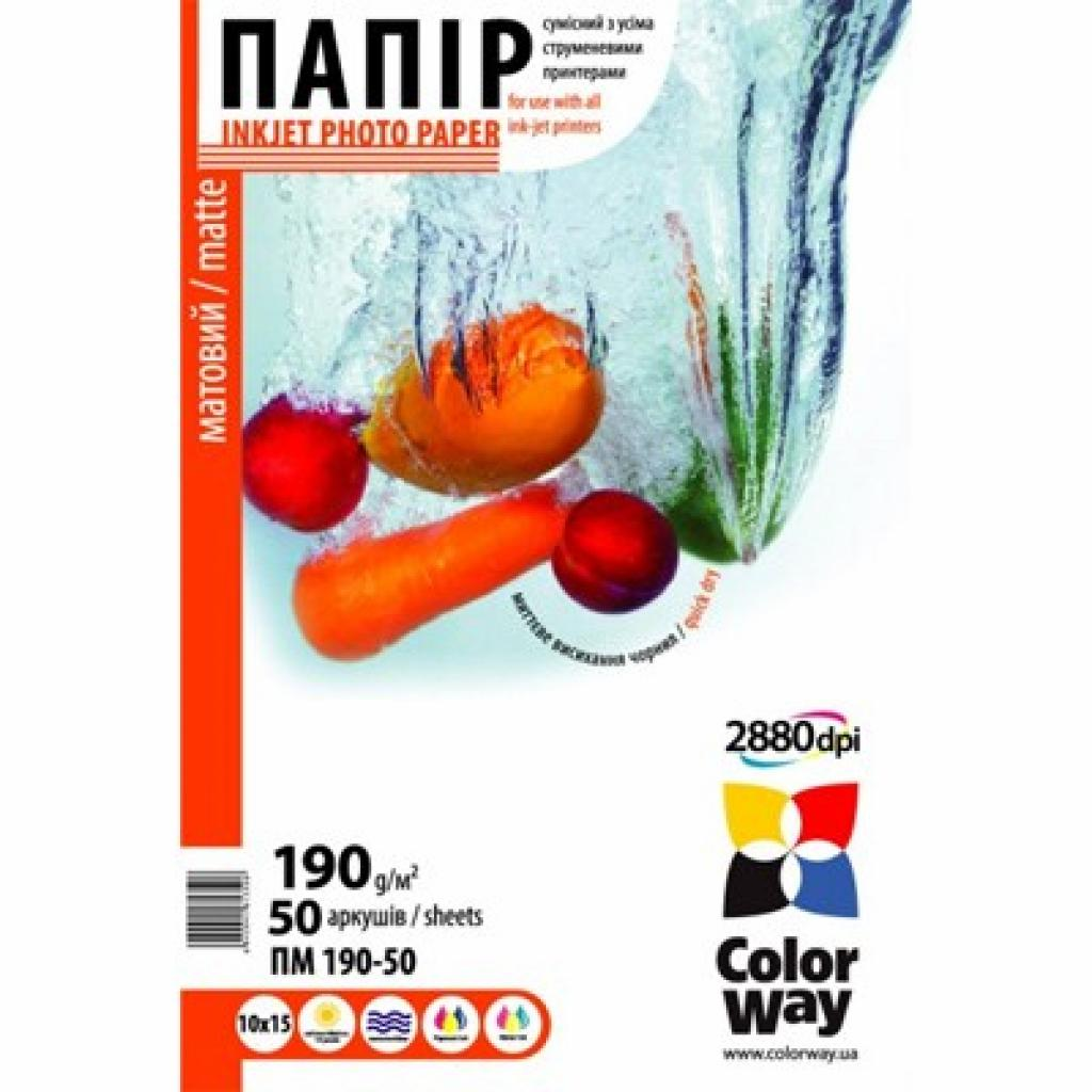 Бумага ColorWay 10x15 (ПМ190-50) (PM1900504R)