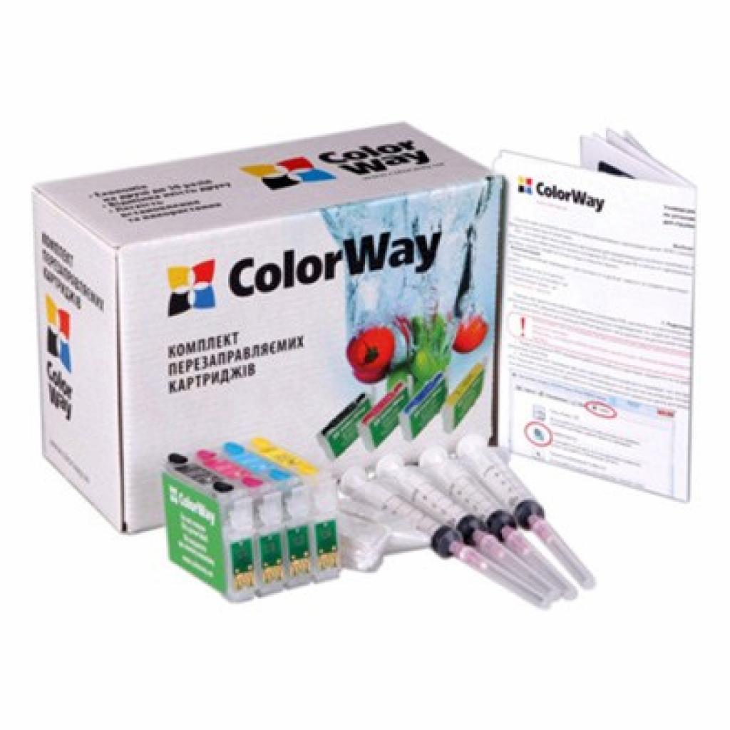 Комплект перезаправляемых картриджей ColorWay Epson S22/SX125/130/420 (без чрнил) (SX130RC-0.0)
