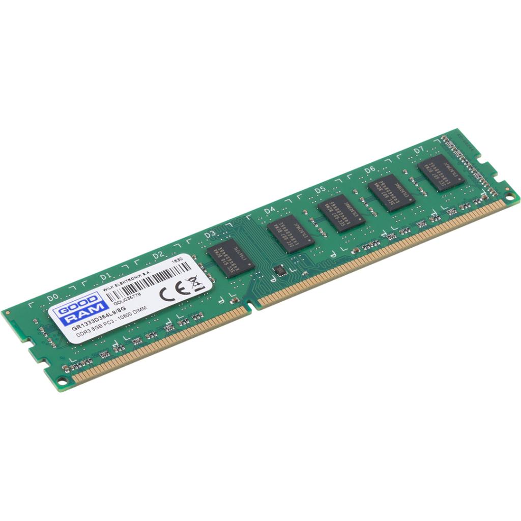 Модуль памяти для компьютера DDR3 8GB 1333 MHz GOODRAM (GR1333D364L9/8G) изображение 2