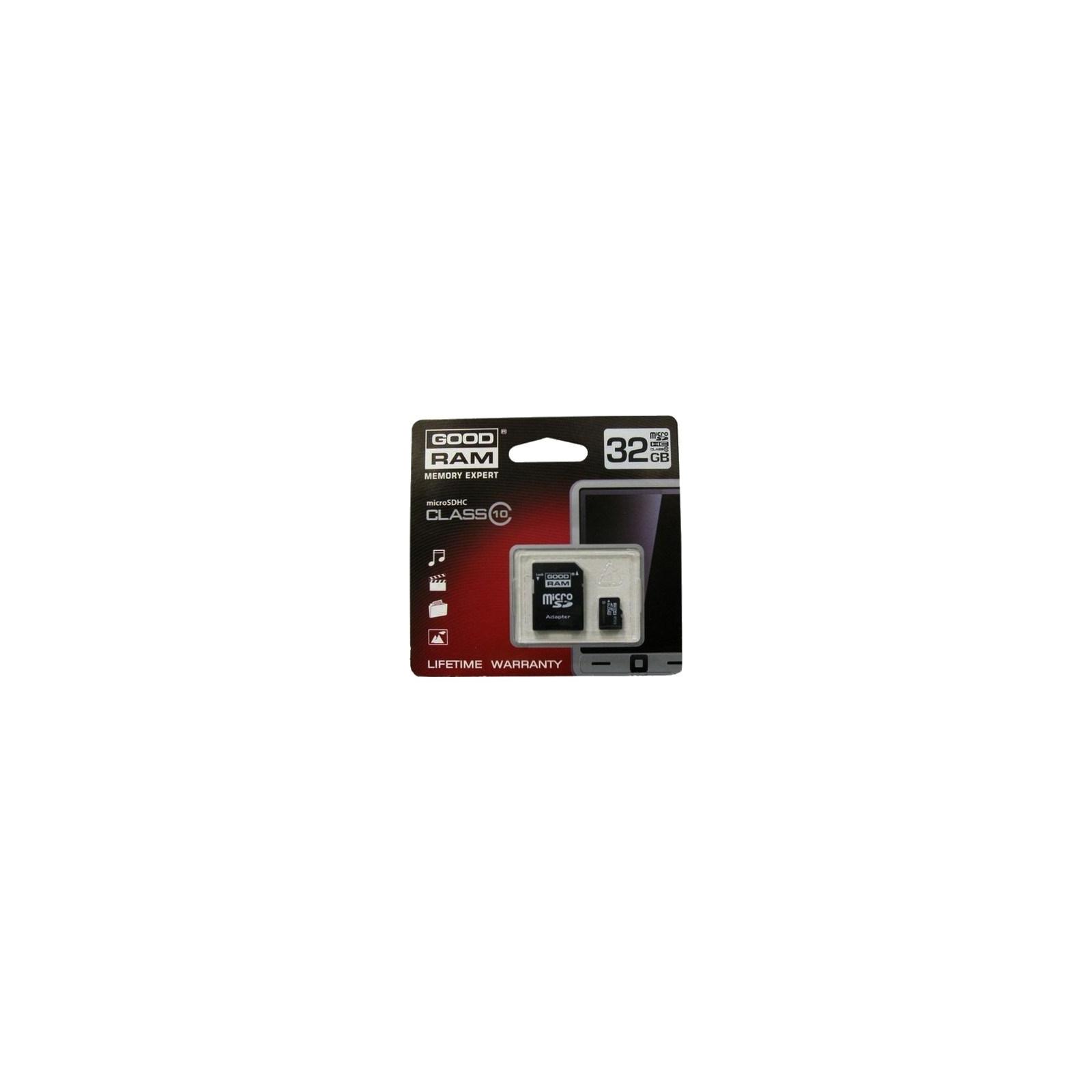 Карта памяти GOODRAM 32Gb microSDHC class 10 (SDU32GHC10AGRR10 / SDU32GHC10AGRR9)