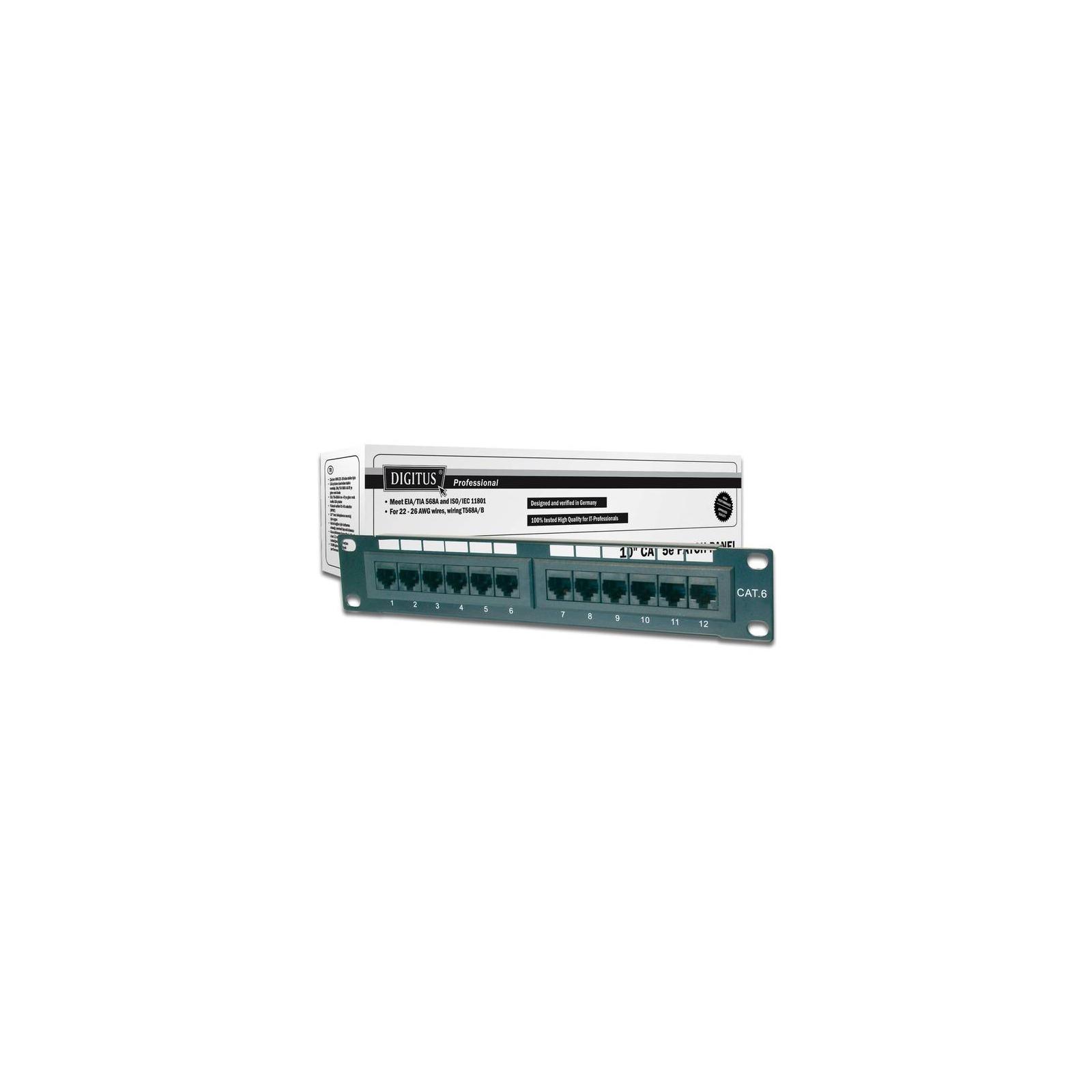 """Патч-панель 10"""" 1U 12 портов 5e UTP в сборе DIGITUS (DN-91512U)"""