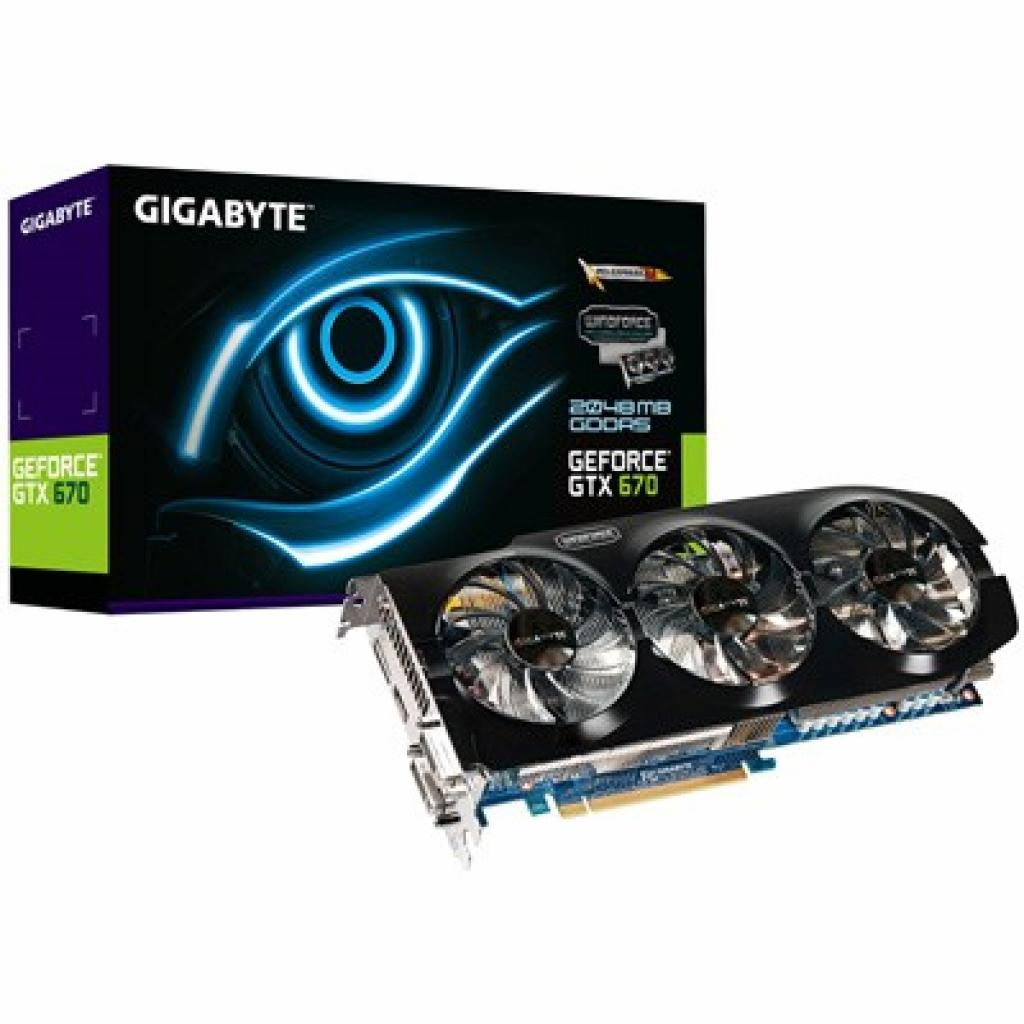 Видеокарта GIGABYTE GeForce GTX670 2048Mb OverClock (GV-N670WF3-2GD)
