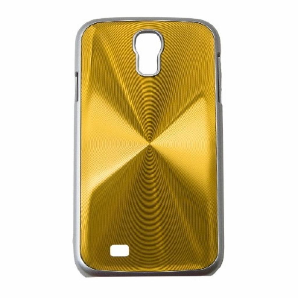 Чехол для моб. телефона Drobak для Samsung I9500 Galaxy S4/Aluminium Panel/Gold (215225)