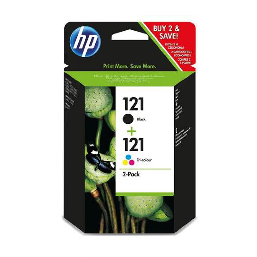 Картридж HP DJ No.121 Black/color (CC640,CC643) Combo Pack (CN637HE)