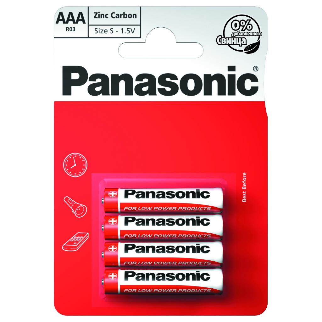 Батарейка PANASONIC AAA R03 RED ZINK * 4 (R03REL/4BP)