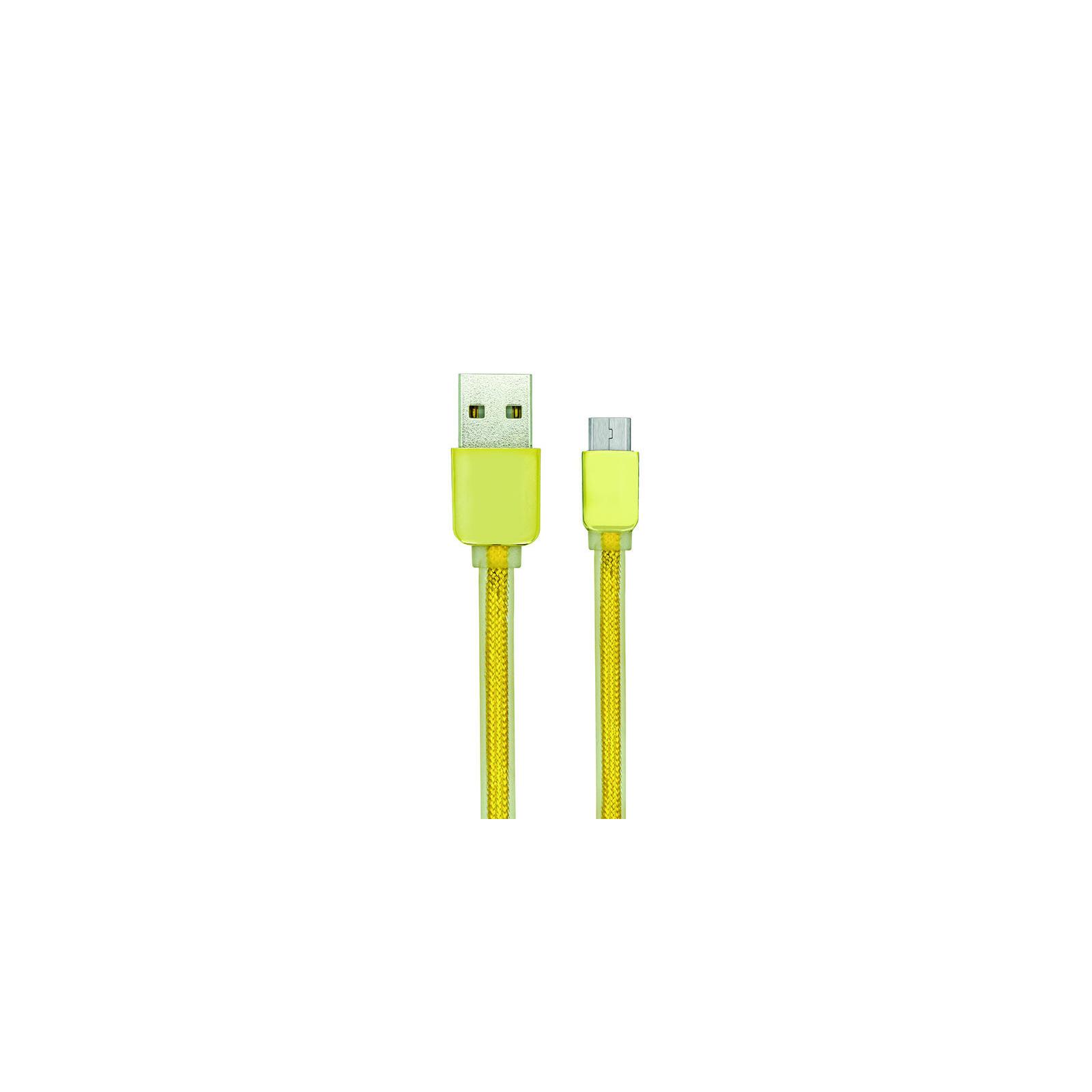 Дата кабель USB 2.0 AM to Micro 5P 1.0m Nylon Seria Gold Gelius (40401)