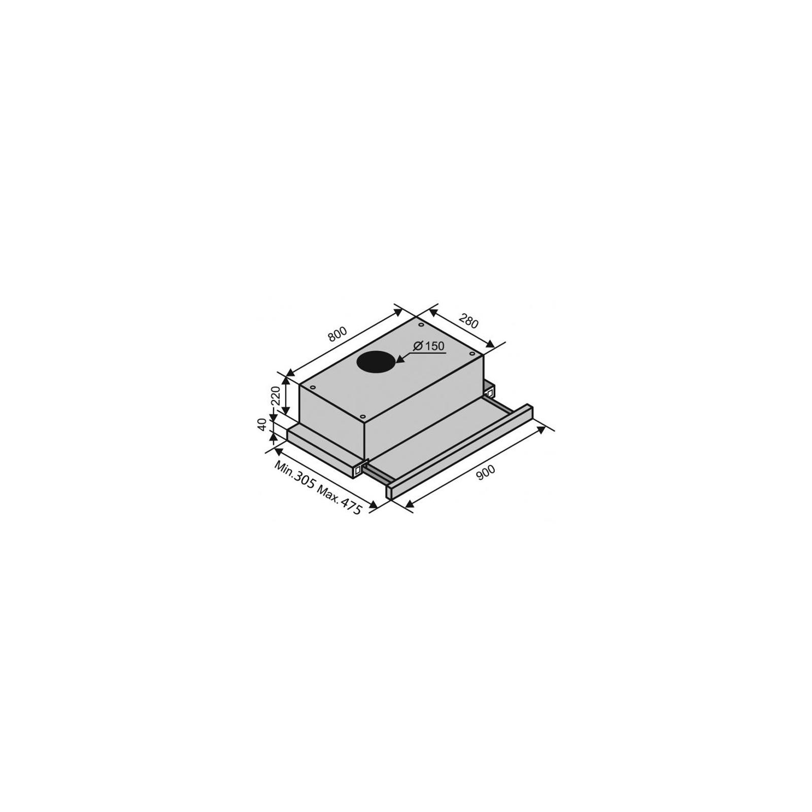 Вытяжка кухонная VENTOLUX GARDA 90 INOX (900) изображение 2