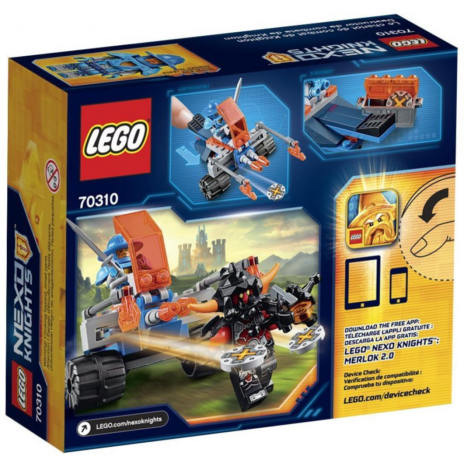 Конструктор LEGO Nexo Knights Королевский боевой бластер (70310) изображение 9