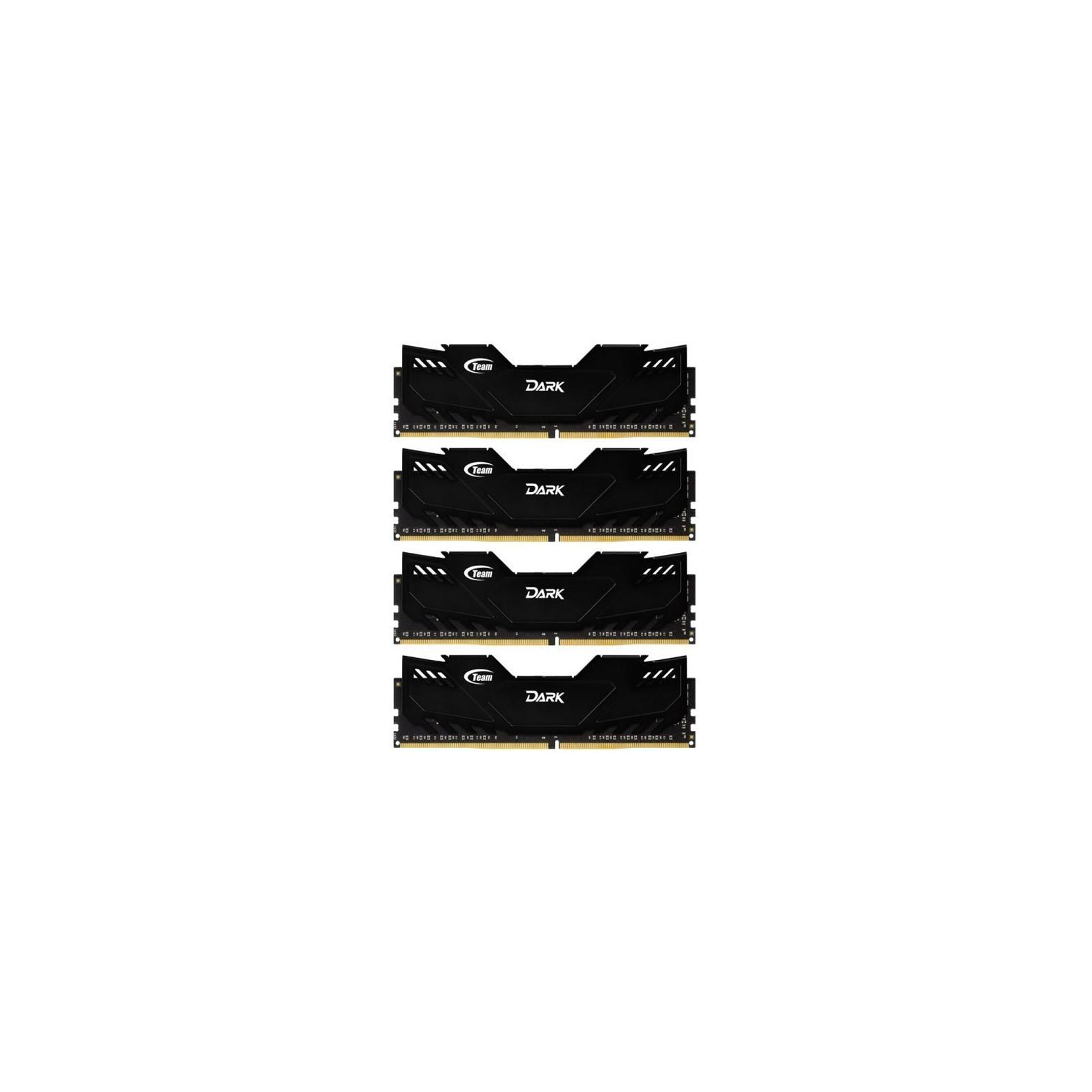 Модуль памяти для компьютера DDR4 32GB (4x8GB) 2666 MHz Dark Black Team (TDKED432G2666HC15AQC01)