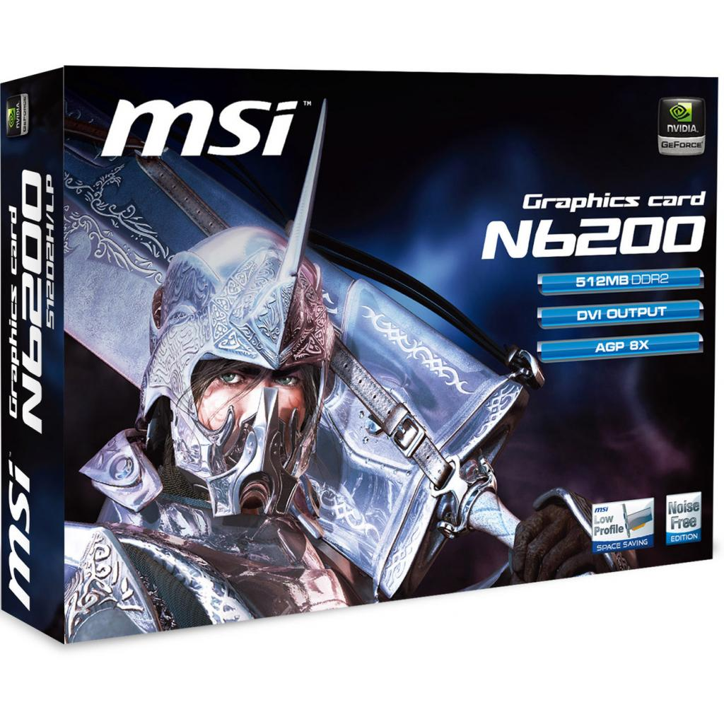 Видеокарта GeForce 6200 512Mb AGP 8X MSI (N6200-512D2H/LP) изображение 5