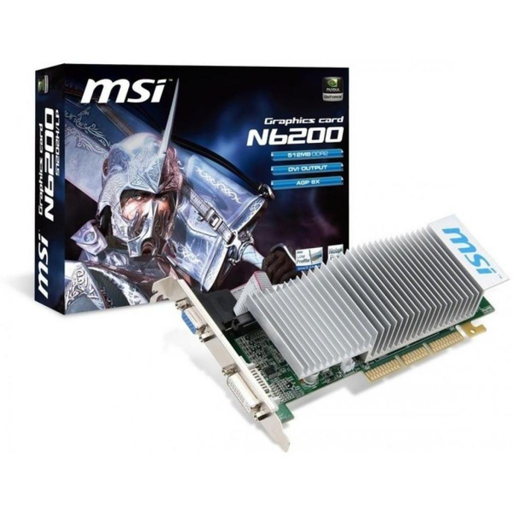 Видеокарта GeForce 6200 512Mb AGP 8X MSI (N6200-512D2H/LP)