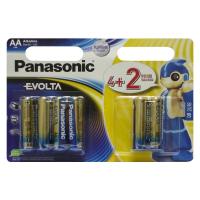 Батарейка PANASONIC AA LR06 Evolta * 6(4+2) (LR6EGE/6B2F)