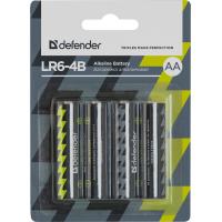 Батарейка Defender AA LR6-4B * 4 (56012)