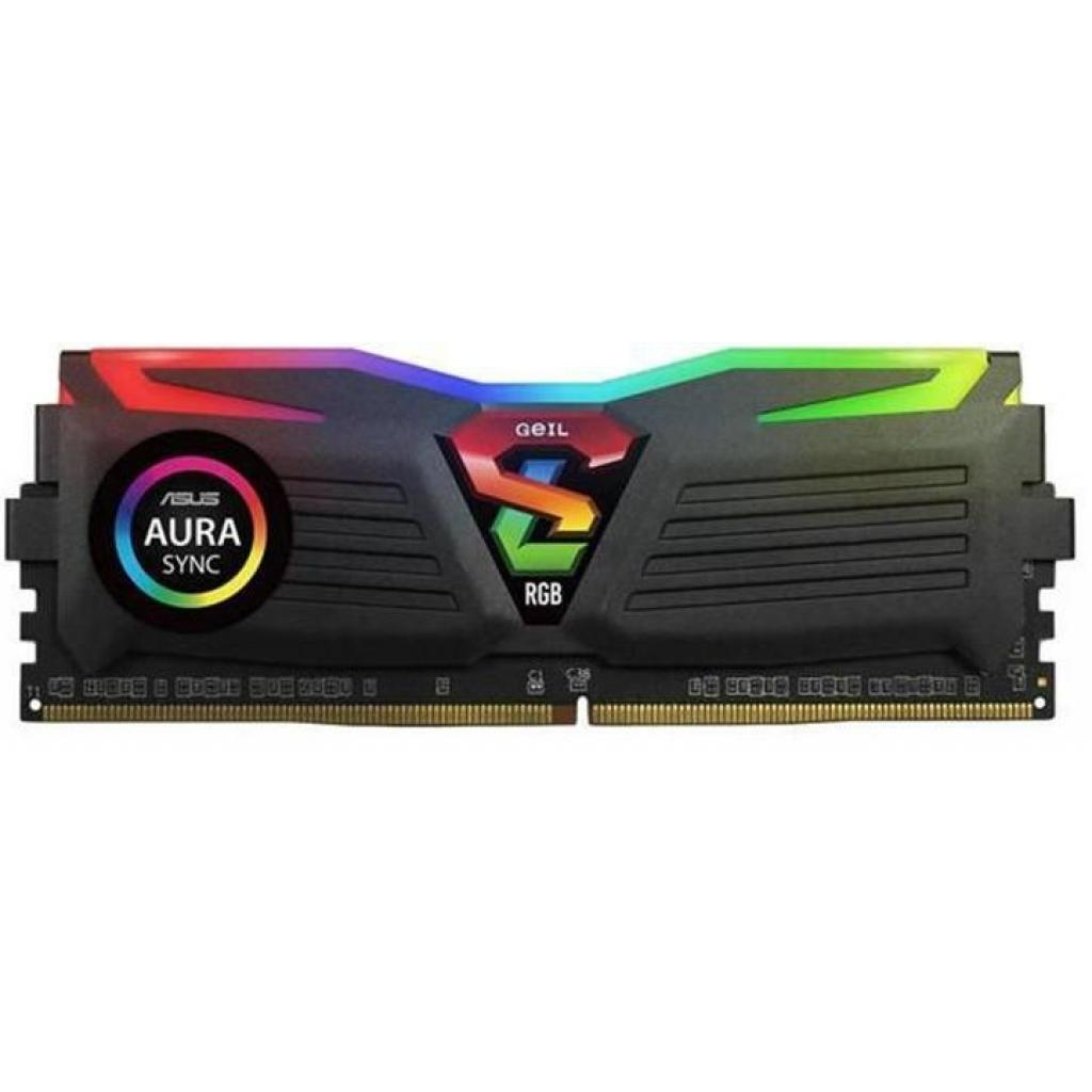 Модуль памяти для компьютера DDR4 16GB (2x8GB) 3000 MHz Super Luce Black RGB Sync LED Geil (GLS416GB3000C16ADC) изображение 2