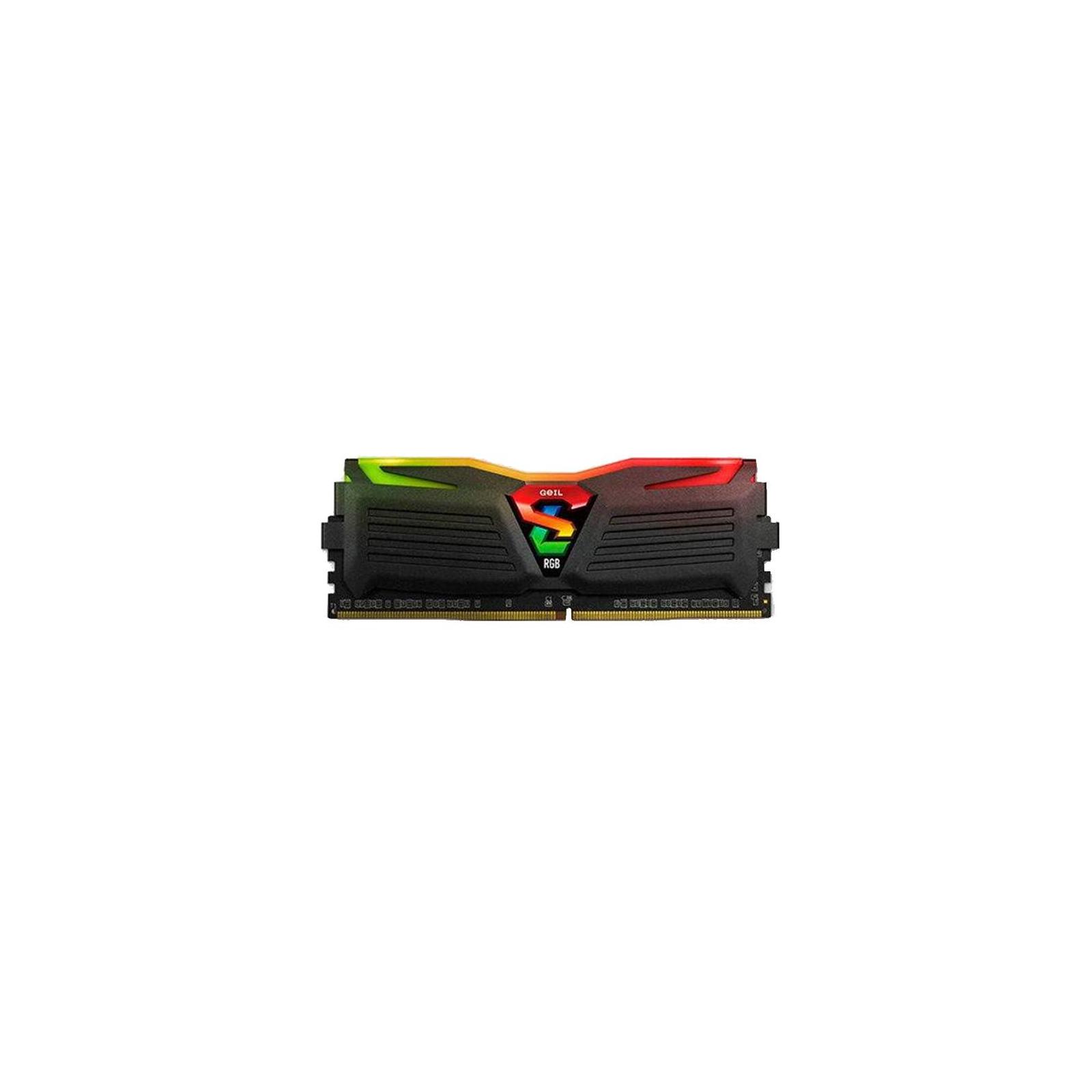 Модуль памяти для компьютера DDR4 16GB (2x8GB) 3000 MHz Super Luce Black RGB Sync LED Geil (GLS416GB3000C16ADC) изображение 3