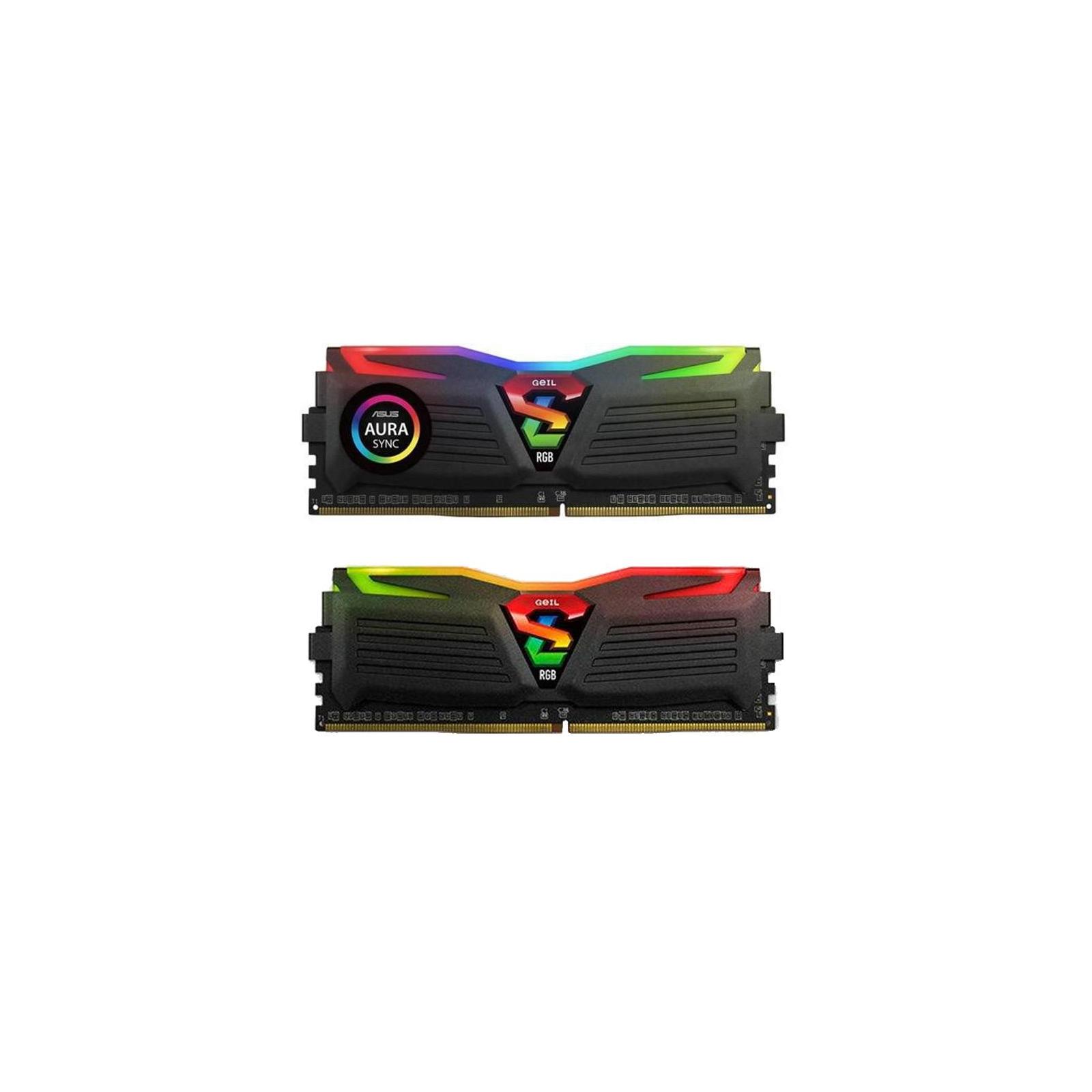 Модуль памяти для компьютера DDR4 16GB (2x8GB) 3000 MHz Super Luce Black RGB Sync LED Geil (GLS416GB3000C16ADC)