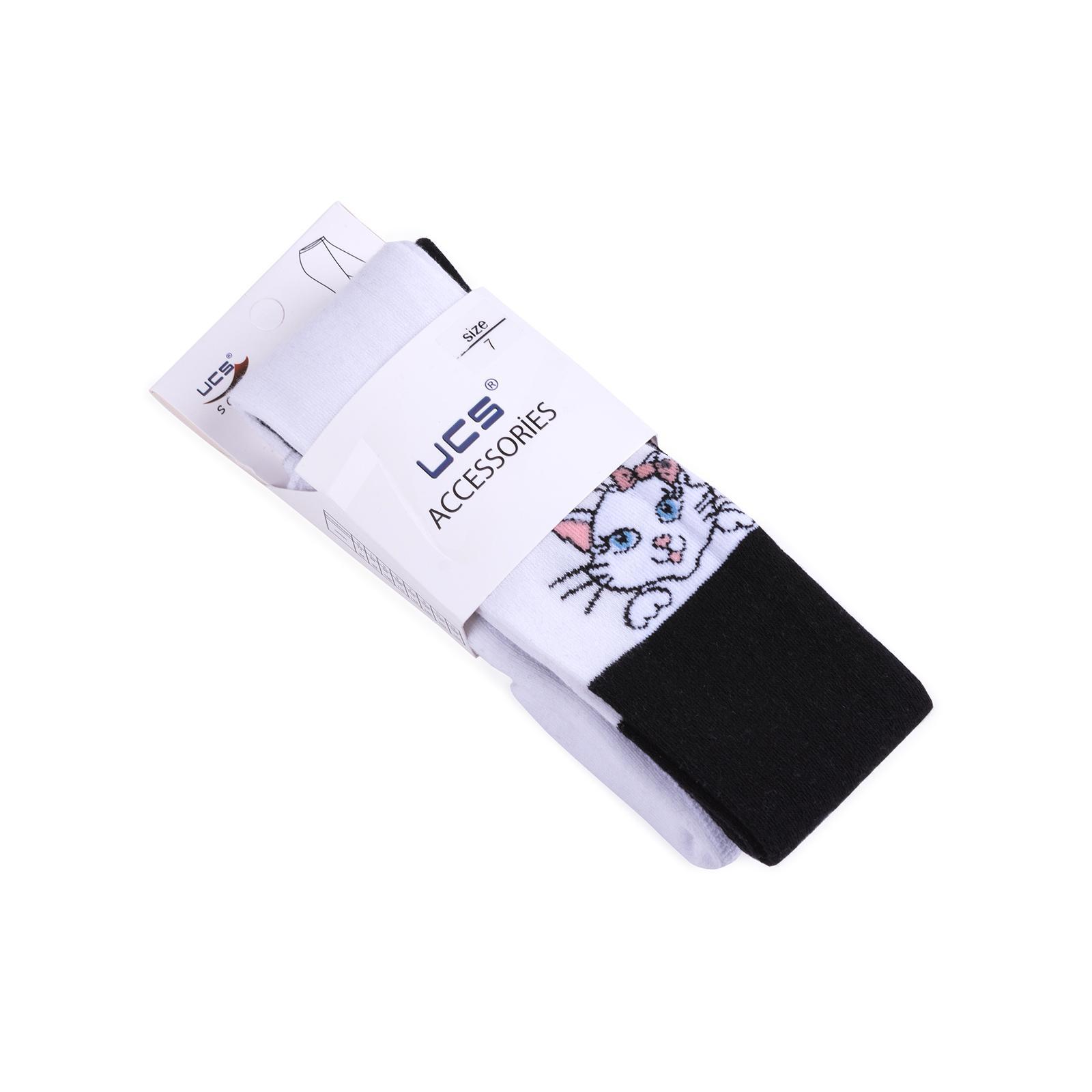 Колготки UCS Socks с котиками (M0C0301-1196-98G-white) изображение 3