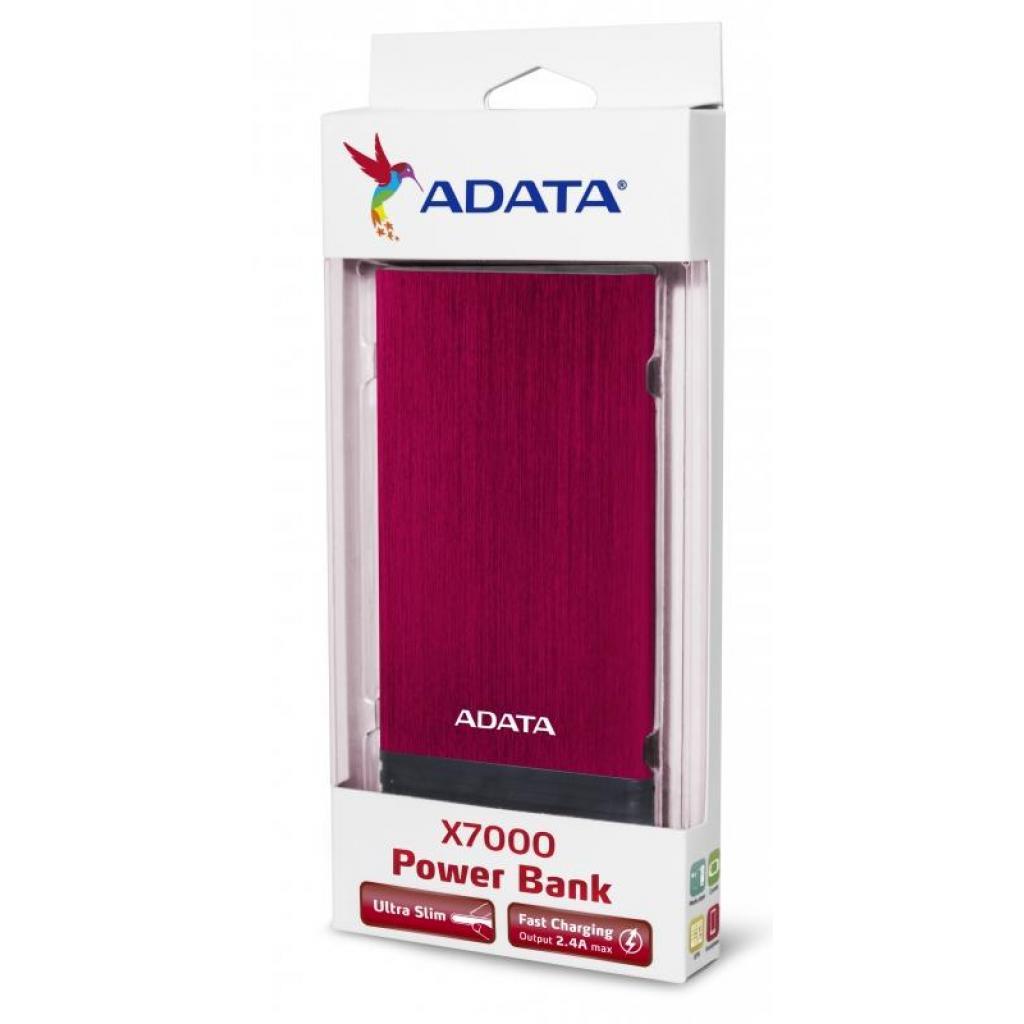 Батарея универсальная ADATA X7000 7000mAh Red (AX7000-5V-CRD) изображение 6