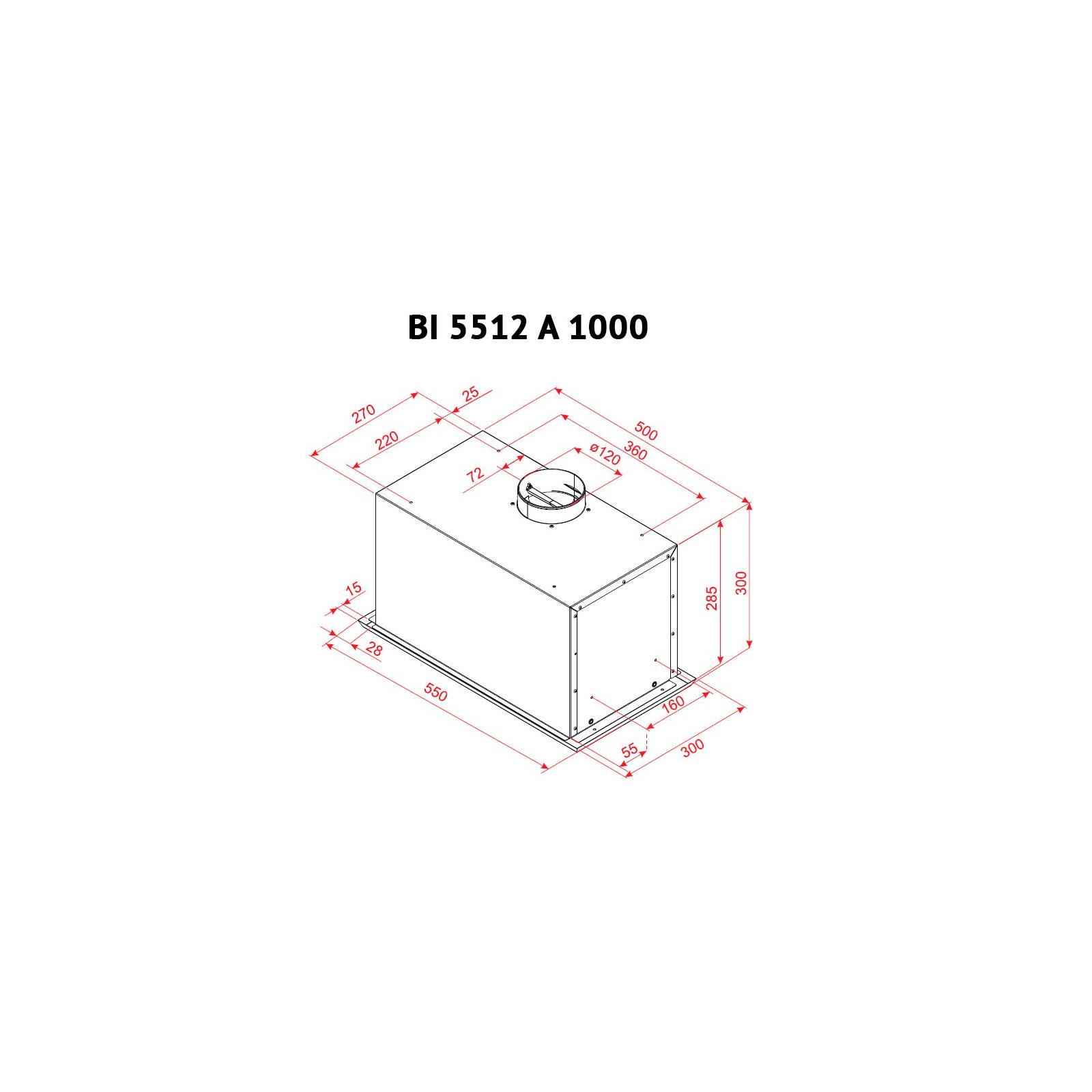 Вытяжка кухонная PERFELLI BI 5512 A 1000 I LED изображение 6