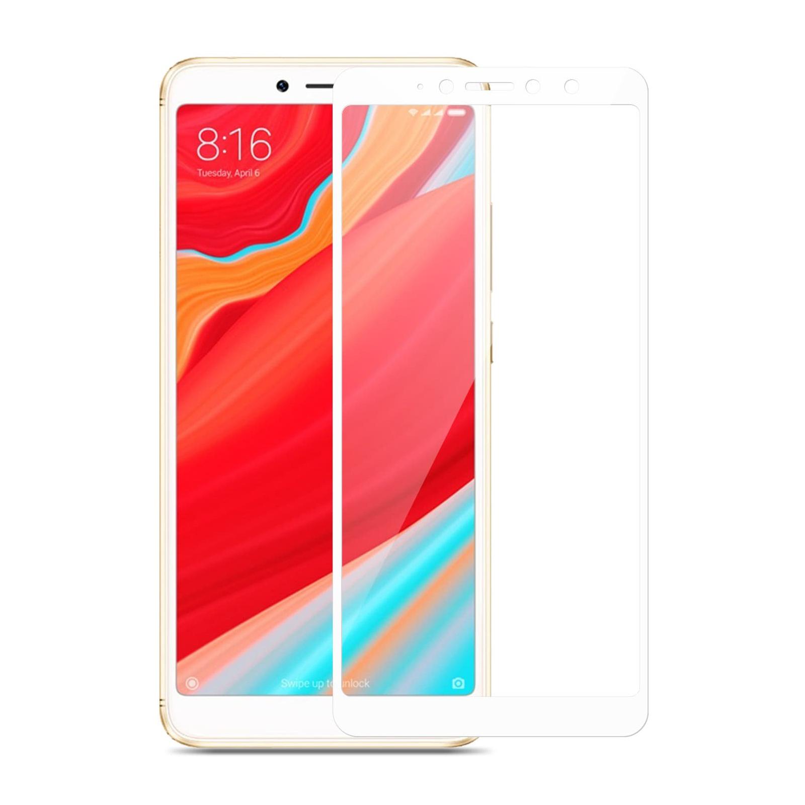 Стекло защитное MakeFuture для Xiaomi Redmi S2 White Full Cover Full Glue (MGFC-XRS2W) изображение 3