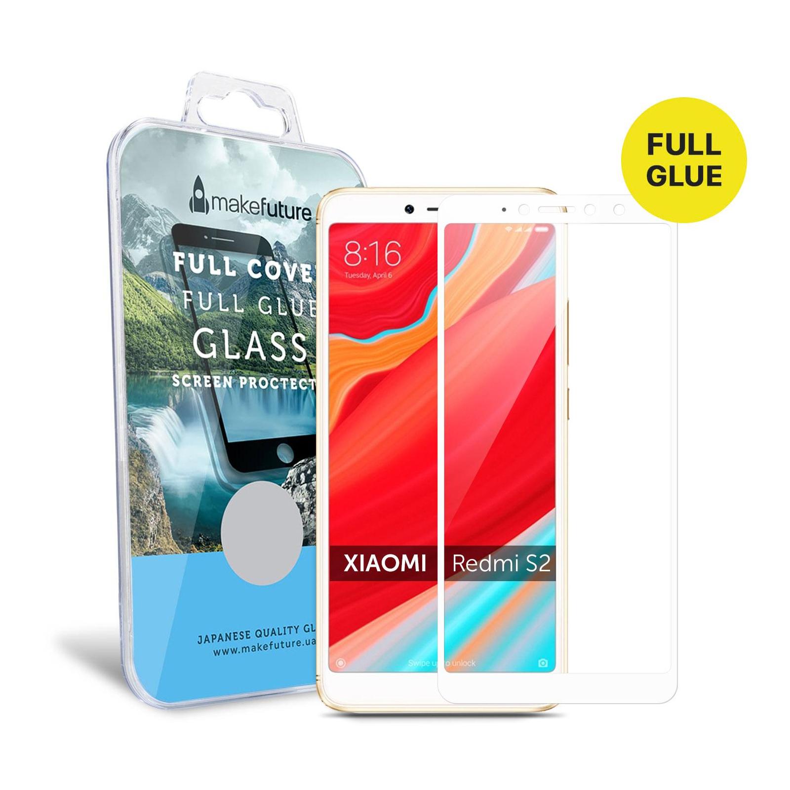Стекло защитное MakeFuture для Xiaomi Redmi S2 White Full Cover Full Glue (MGFC-XRS2W) изображение 4