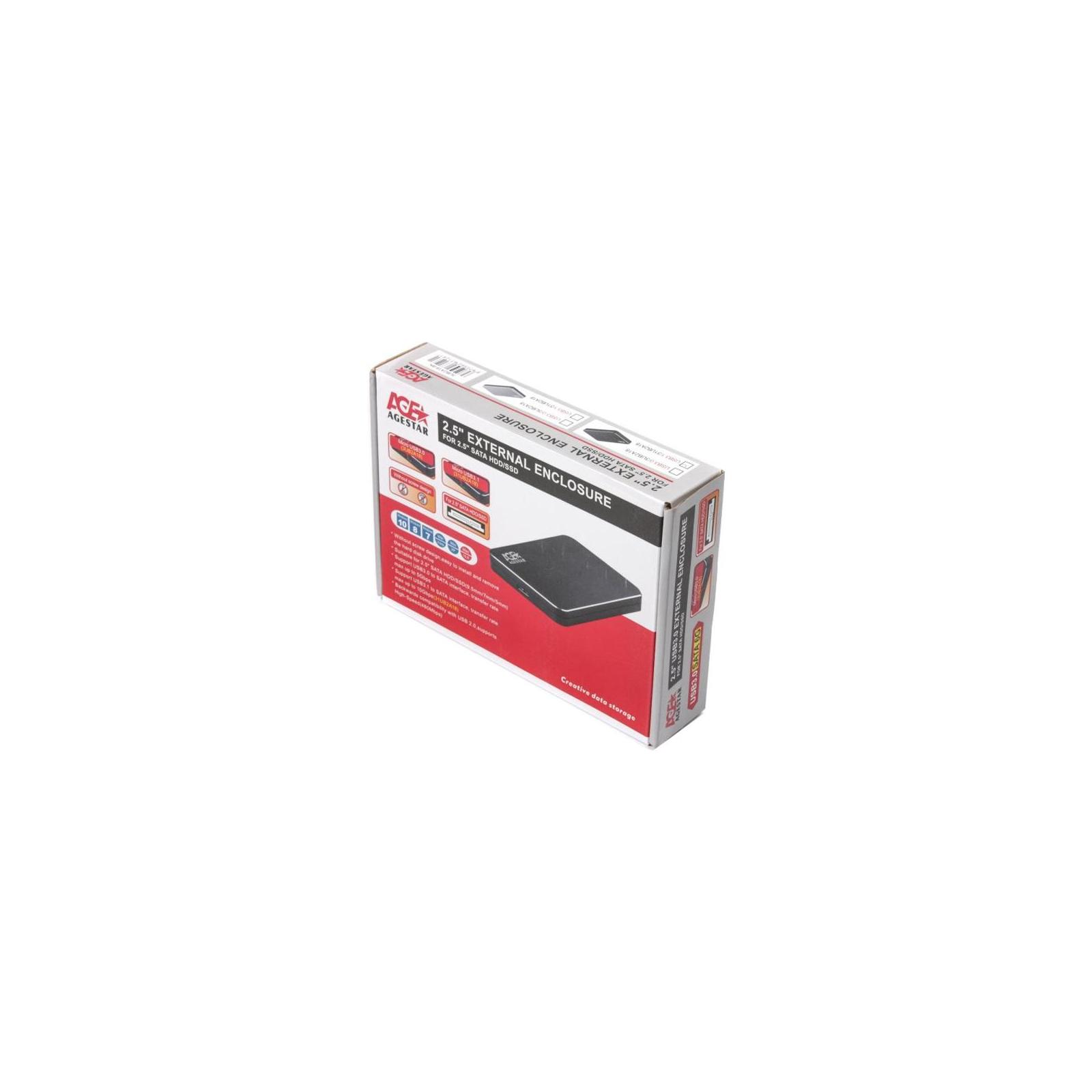 """Карман внешний AgeStar 2.5"""", USB3.1, черный (31UB2A18 (Black)) изображение 4"""
