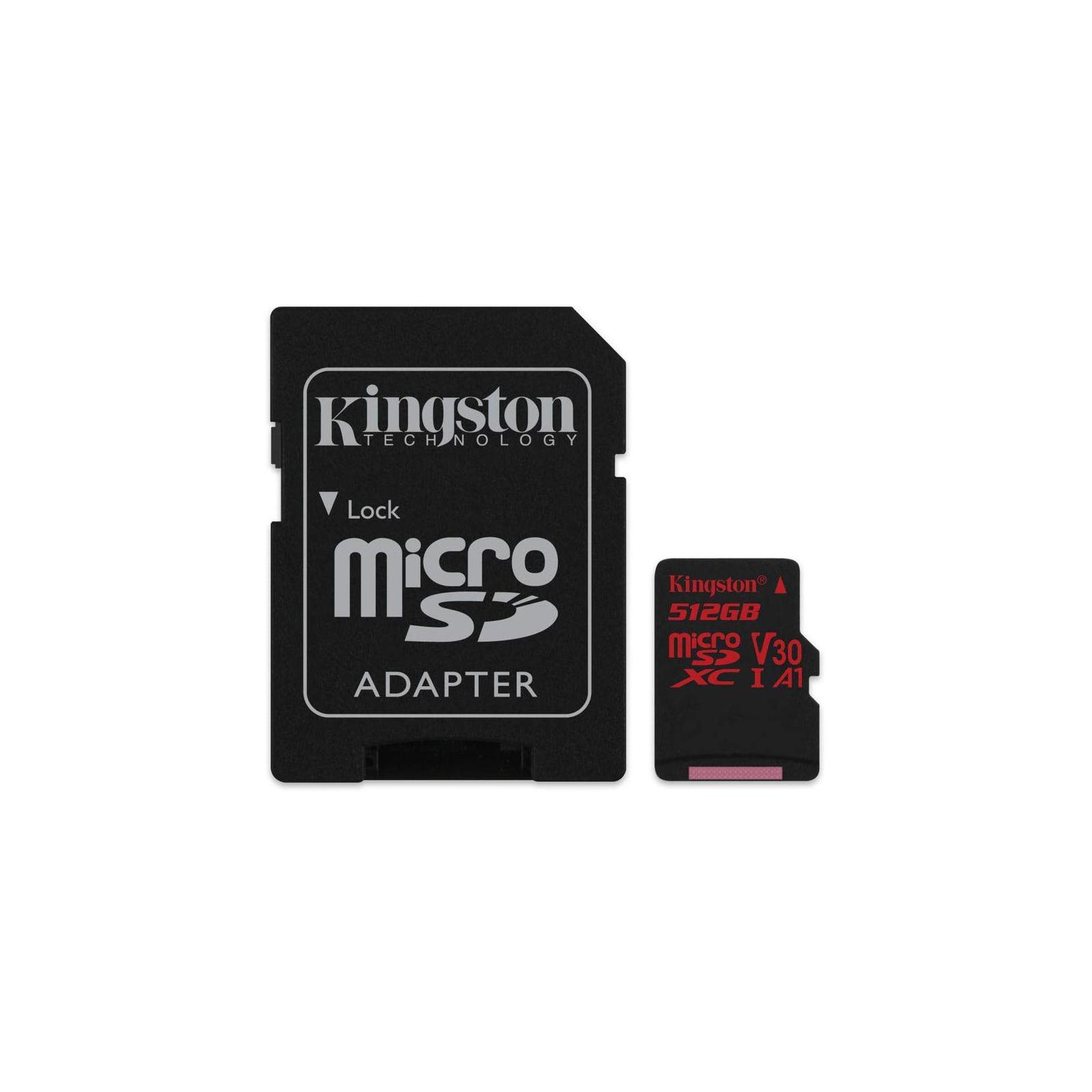 Карта памяти Kingston 512GB microSDXC class 10 UHS-I U3 Canvas React (SDCR/512GB)
