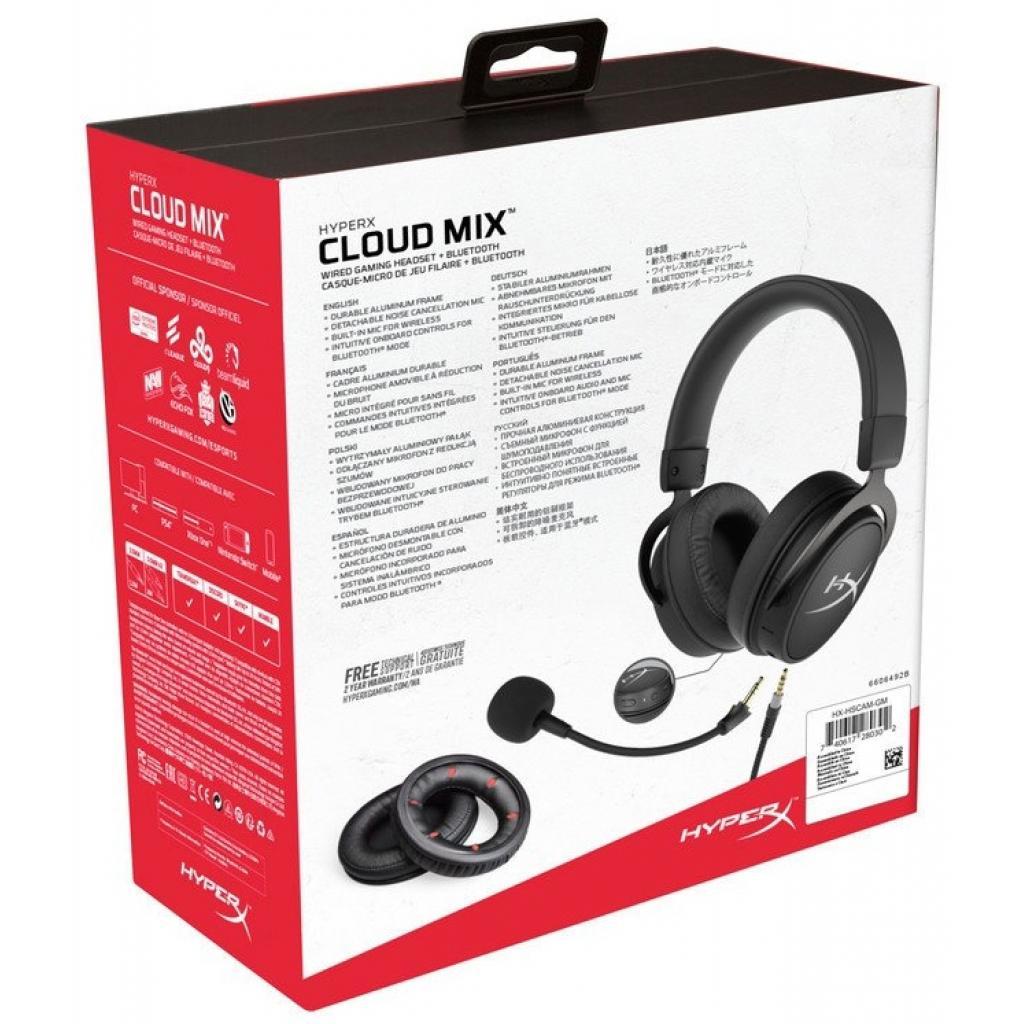 Навушники HyperX Cloud MIX Gaming Headset + Bluetooth Black (HX-HSCAM-GM) зображення 8