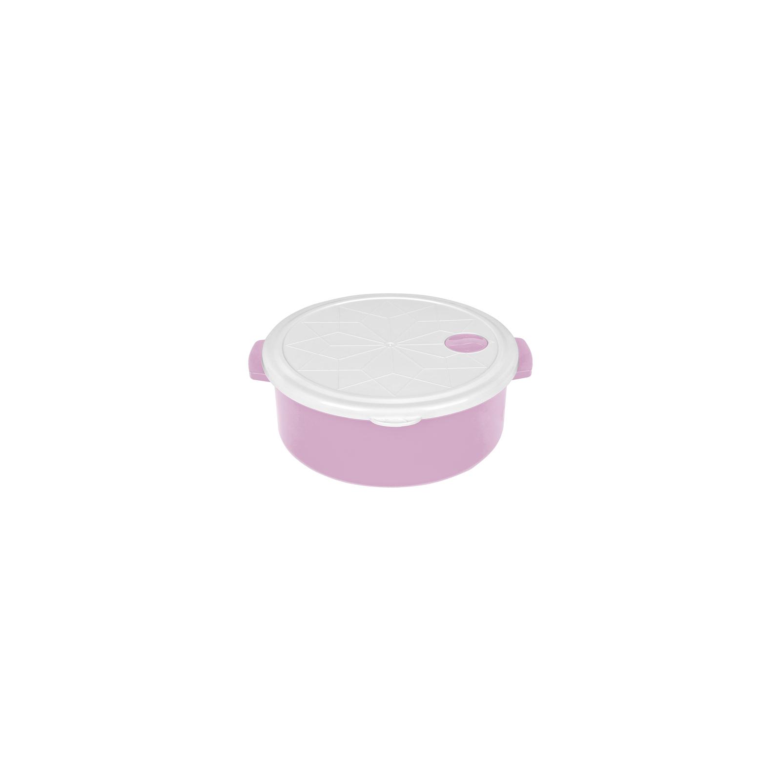 Пищевой контейнер Bager 2.7 л White/Lilac (BG-420 L)