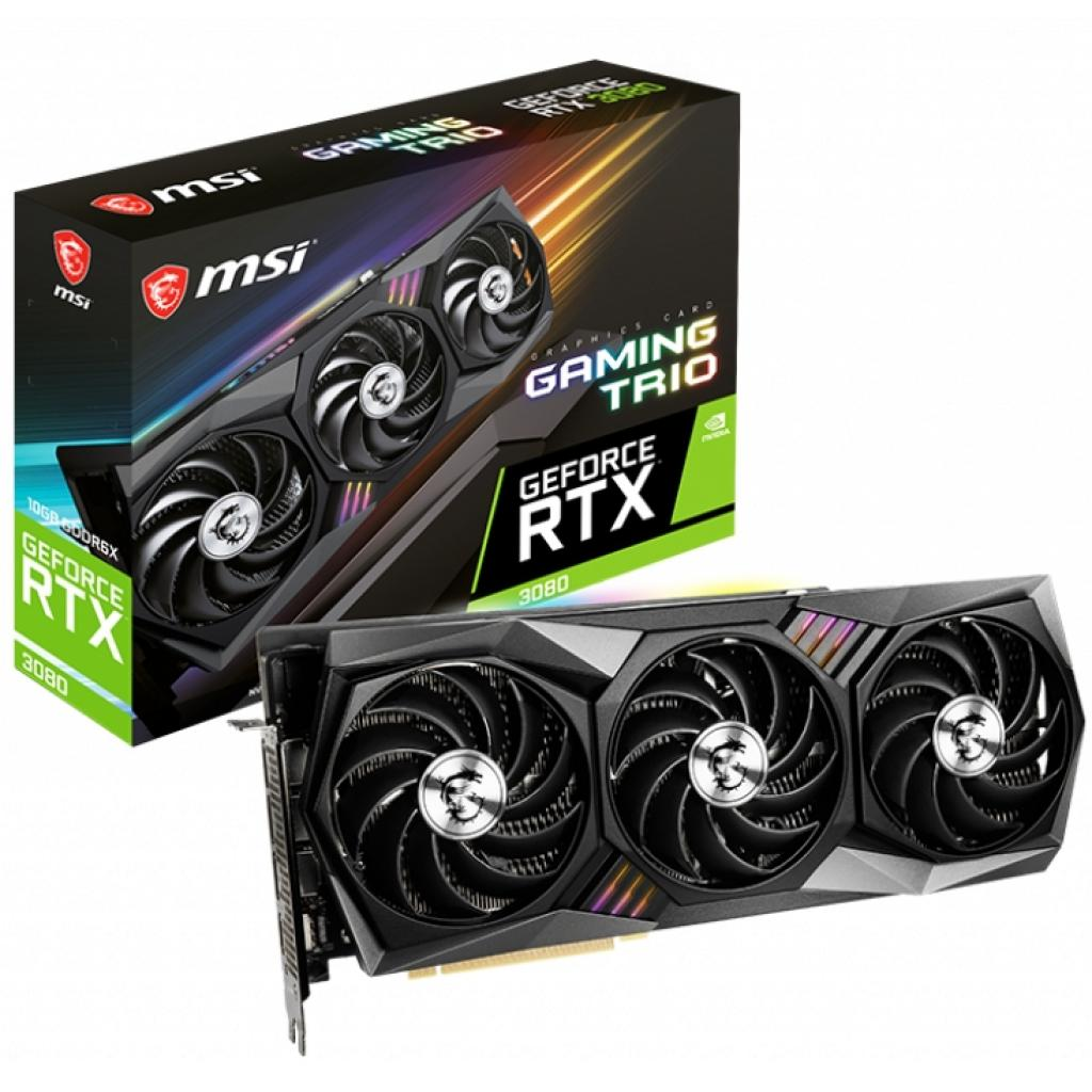 Відеокарта MSI GeForce RTX3080 10Gb GAMING TRIO (RTX 3080 GAMING TRIO 10G)
