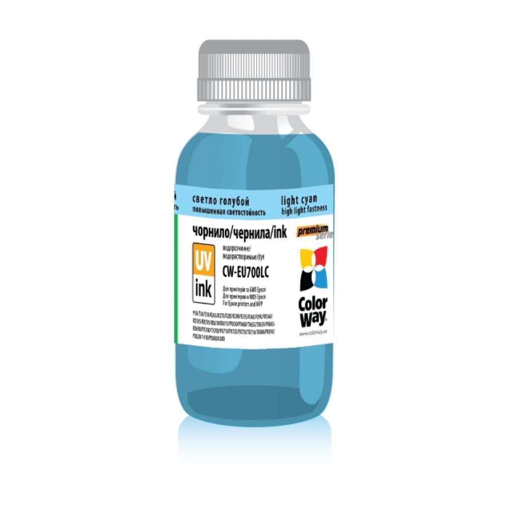 Чернила ColorWay Epson UV P50/PX700 200мл Ph.Cyan (CW-EU700LC02)